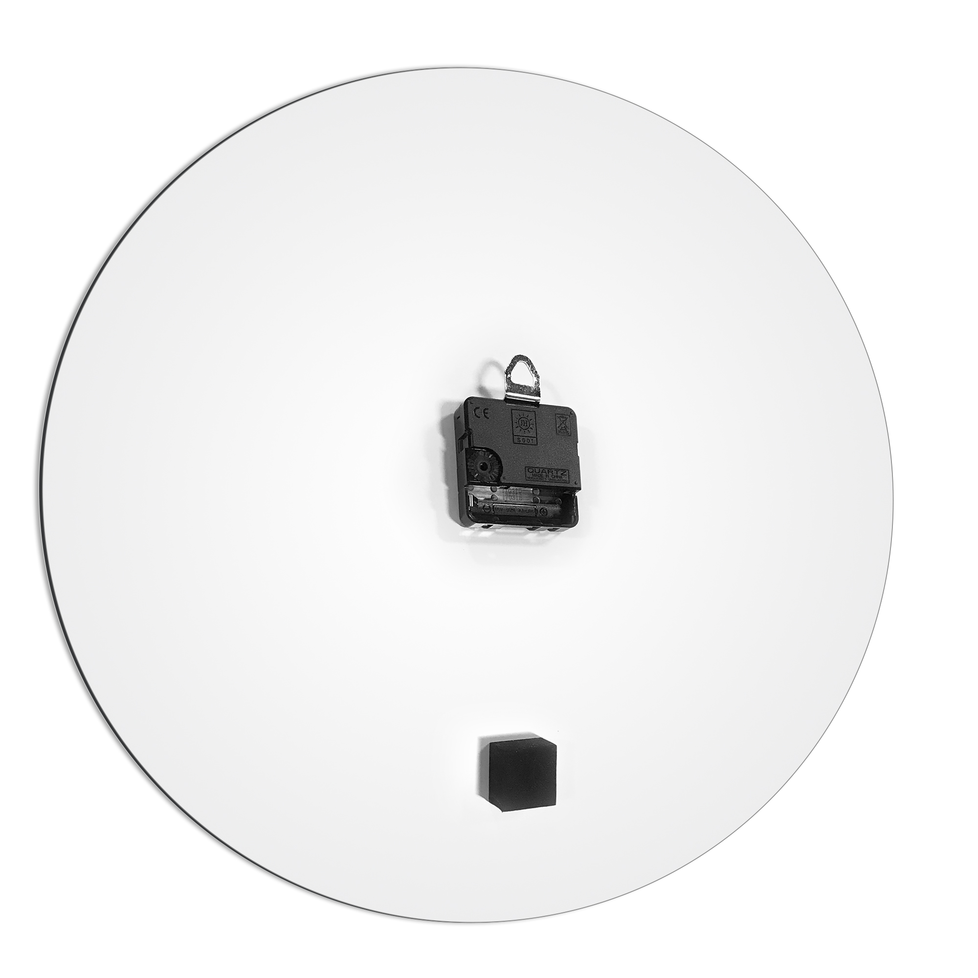 Blueout White Circle Clock Large by Adam Schwoeppe Contemporary Clock on Aluminum Polymetal - Alternate View 3