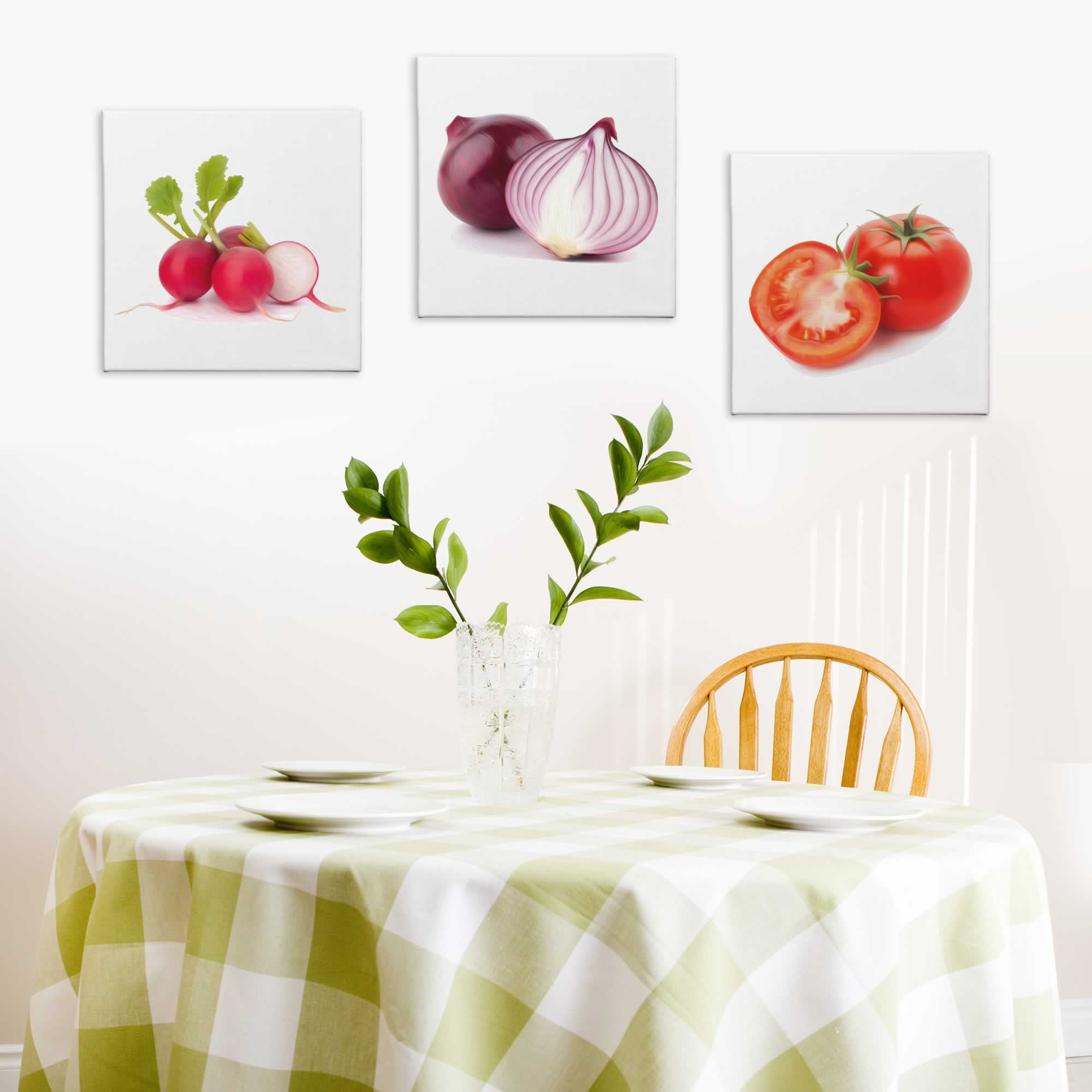 Garden Toppings - Contemporary giclee Painting Print on Canvas - Lifestyle Image