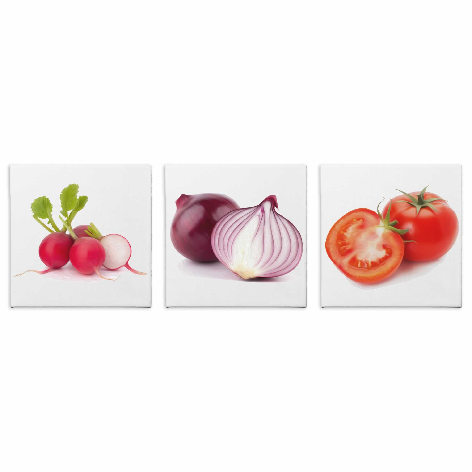 Garden Toppings - Contemporary giclee Painting Print on Canvas