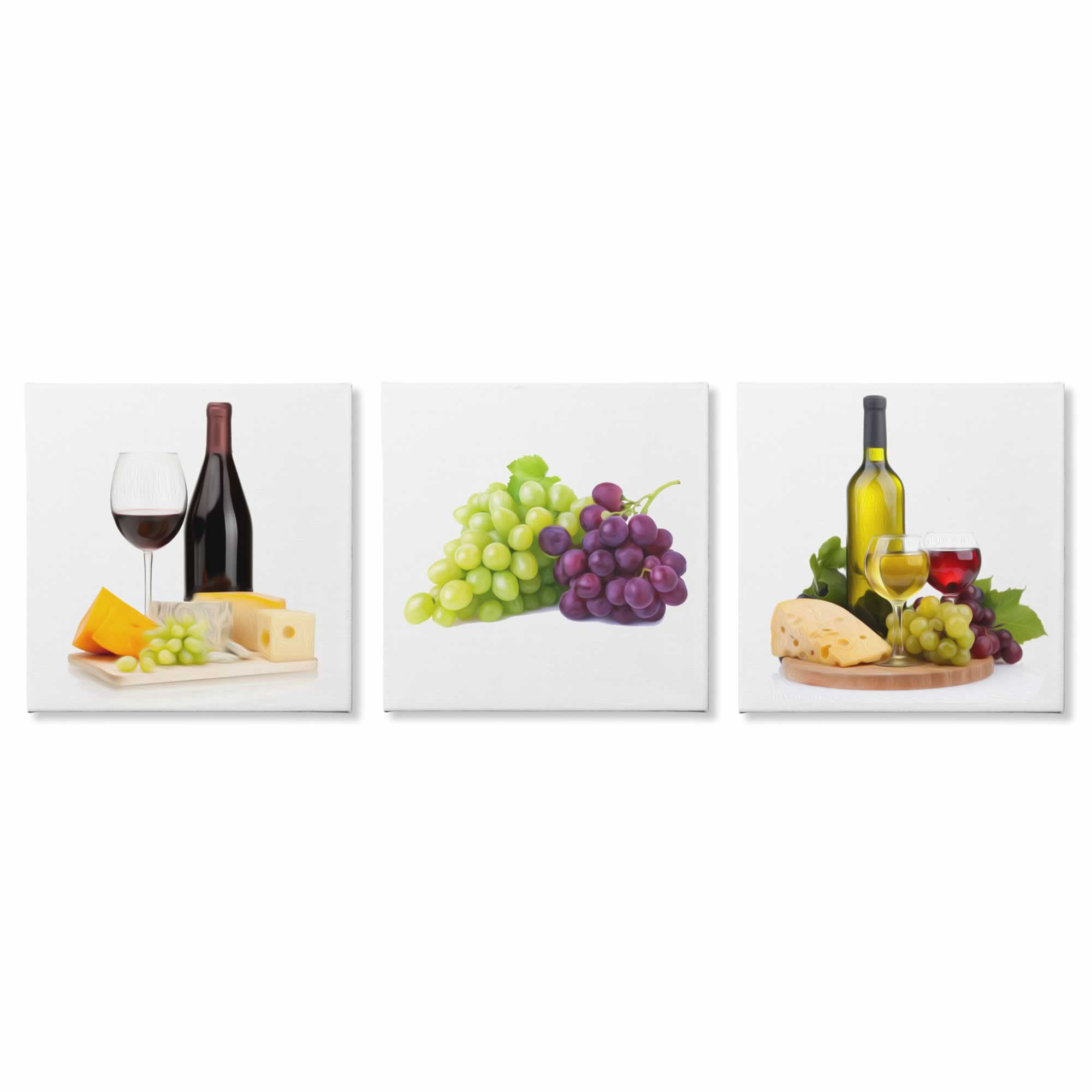 Wine and Cheese - Contemporary giclee Painting Print on Canvas