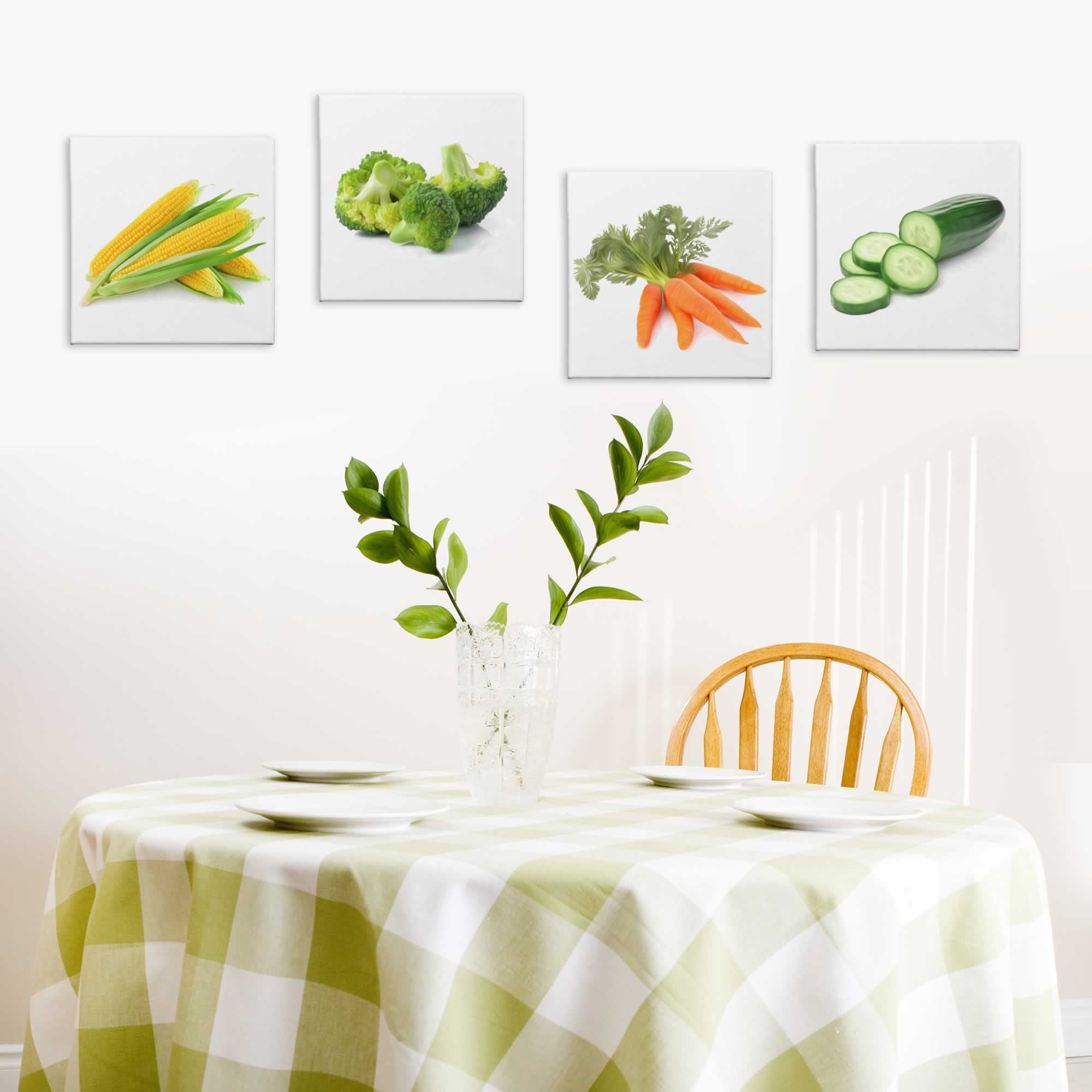 Garden Fresh - Contemporary giclee Painting Print on Canvas - Lifestyle Image