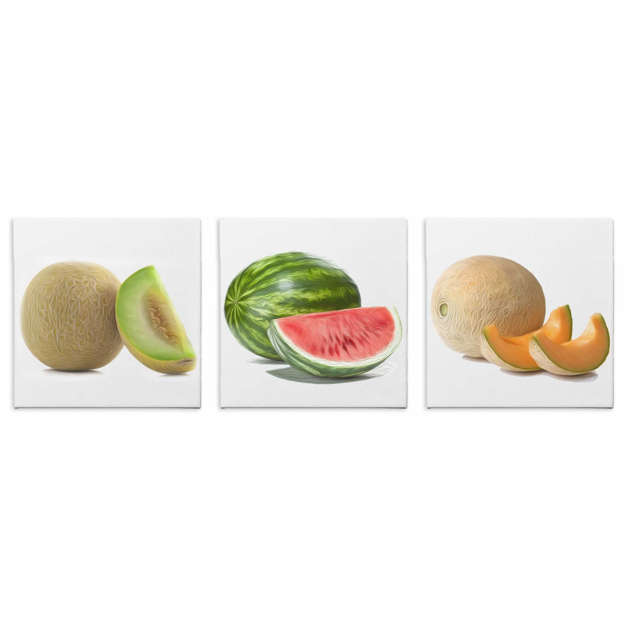 Sliced Melons - Contemporary giclee Painting Print on Canvas