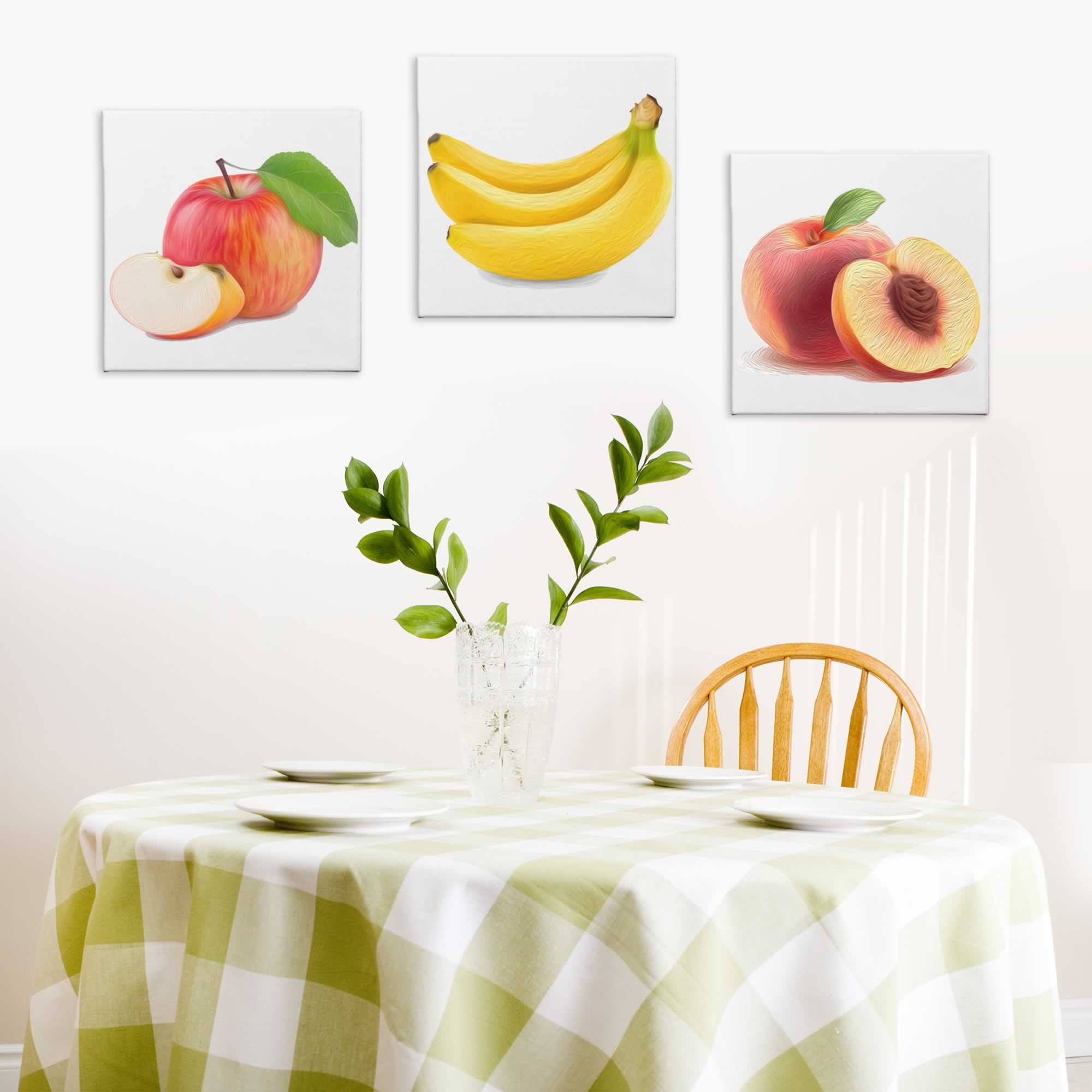 Fruit Salad - Contemporary giclee Painting Print on Canvas - Lifestyle Image