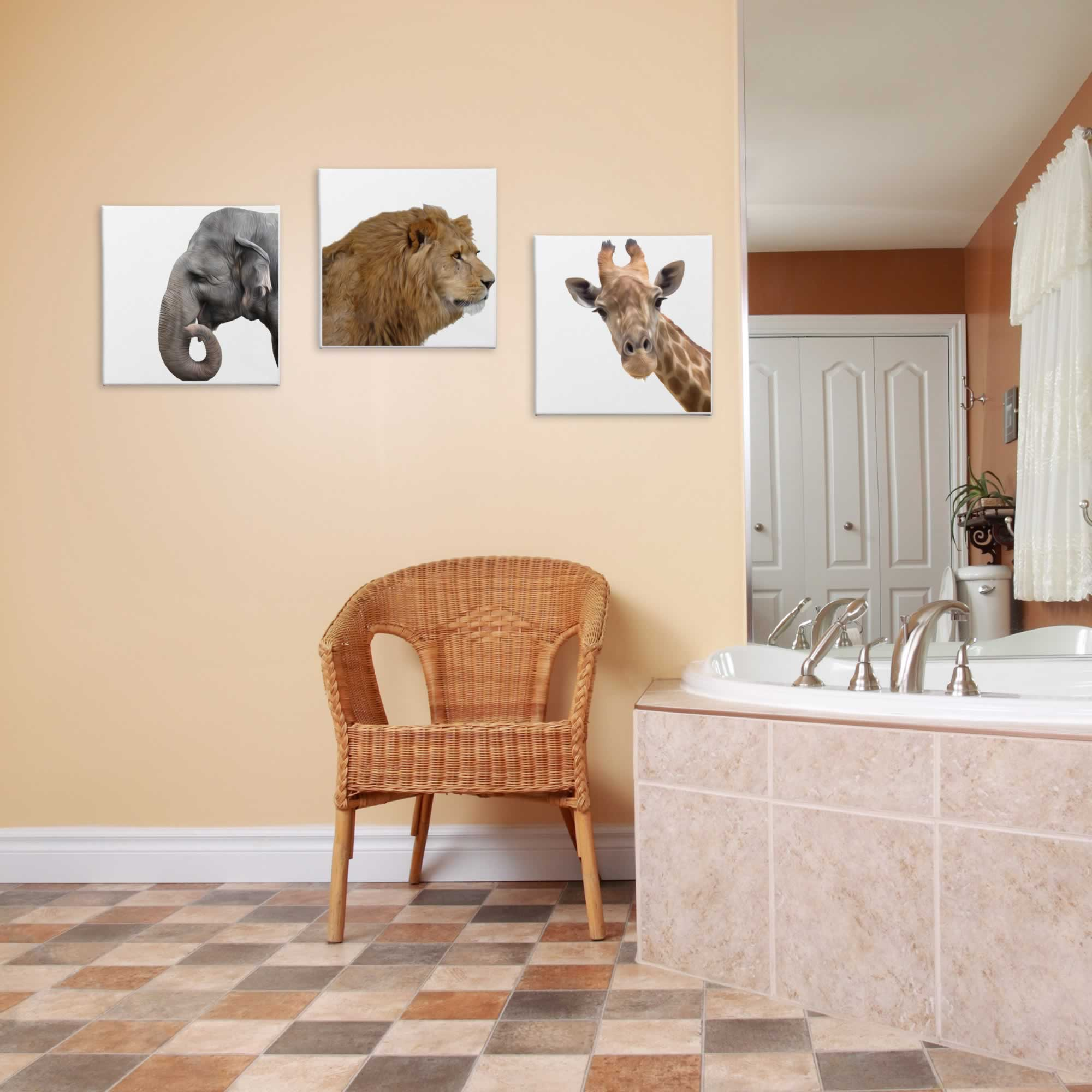 Wild Africa - Contemporary giclee Painting Print on Canvas - Lifestyle Image