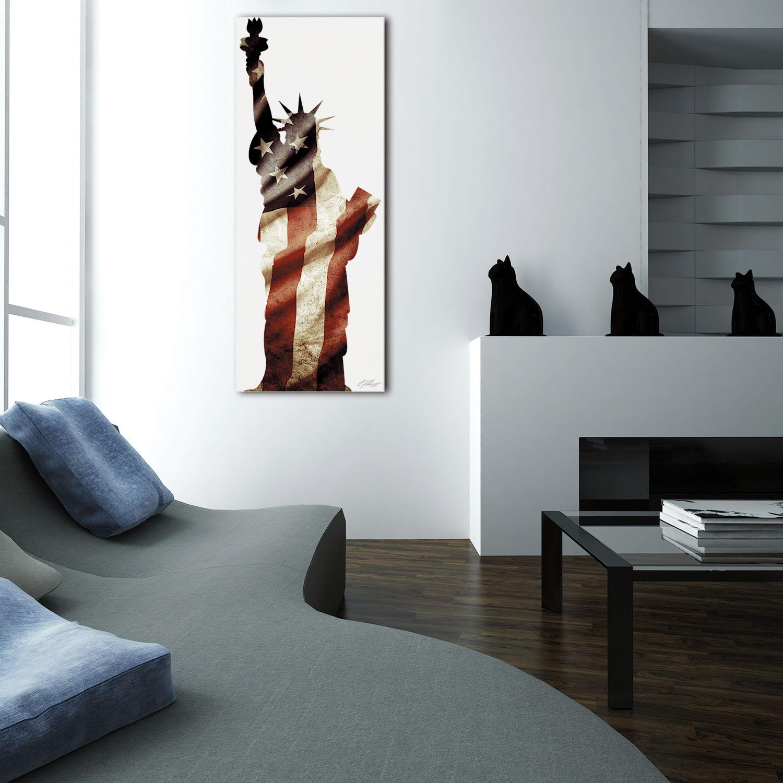 LADY LIBERTY - 48x19 in. Metal Patriotic Print - Lifestyle Image