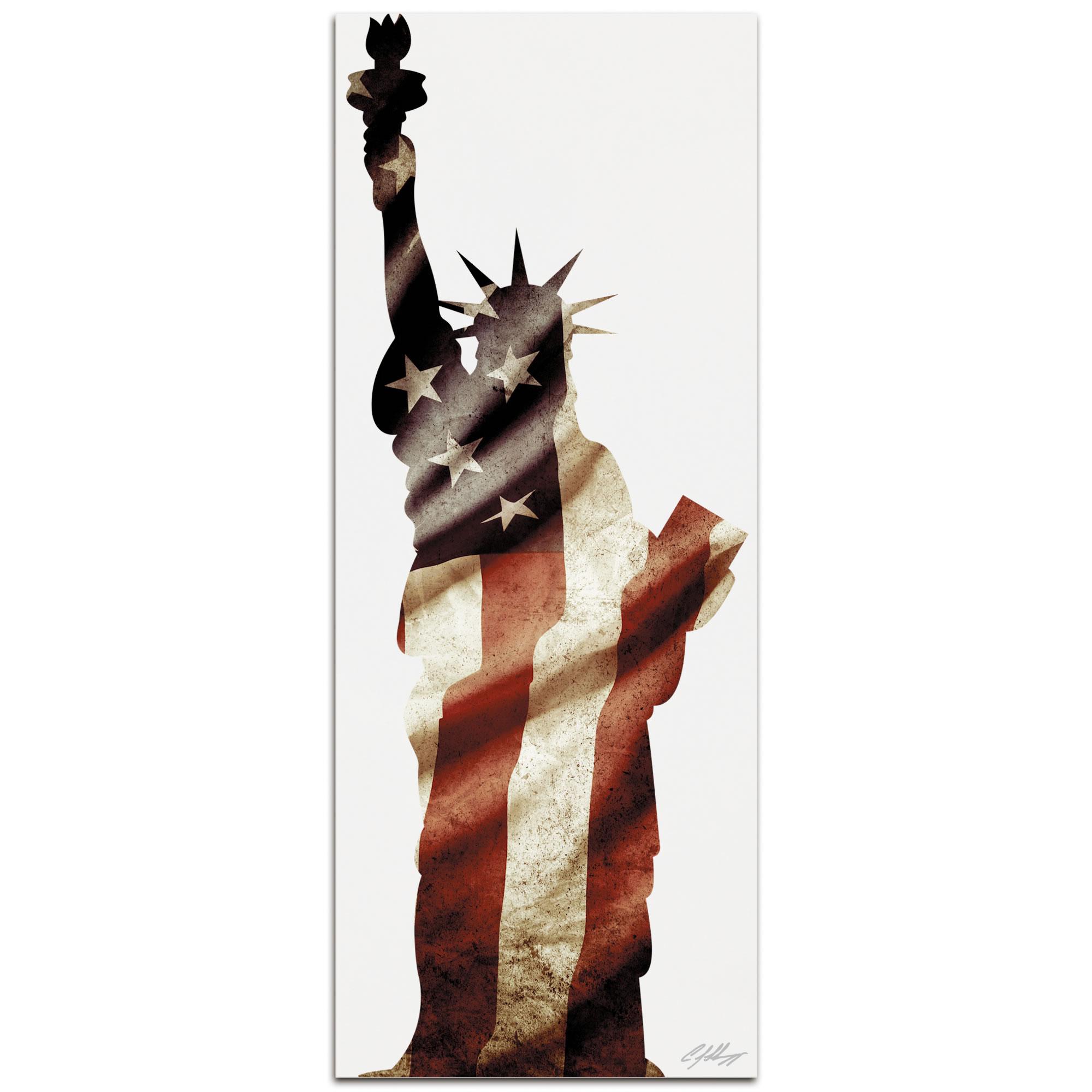 LADY LIBERTY - 48x19 in. Metal Patriotic Print