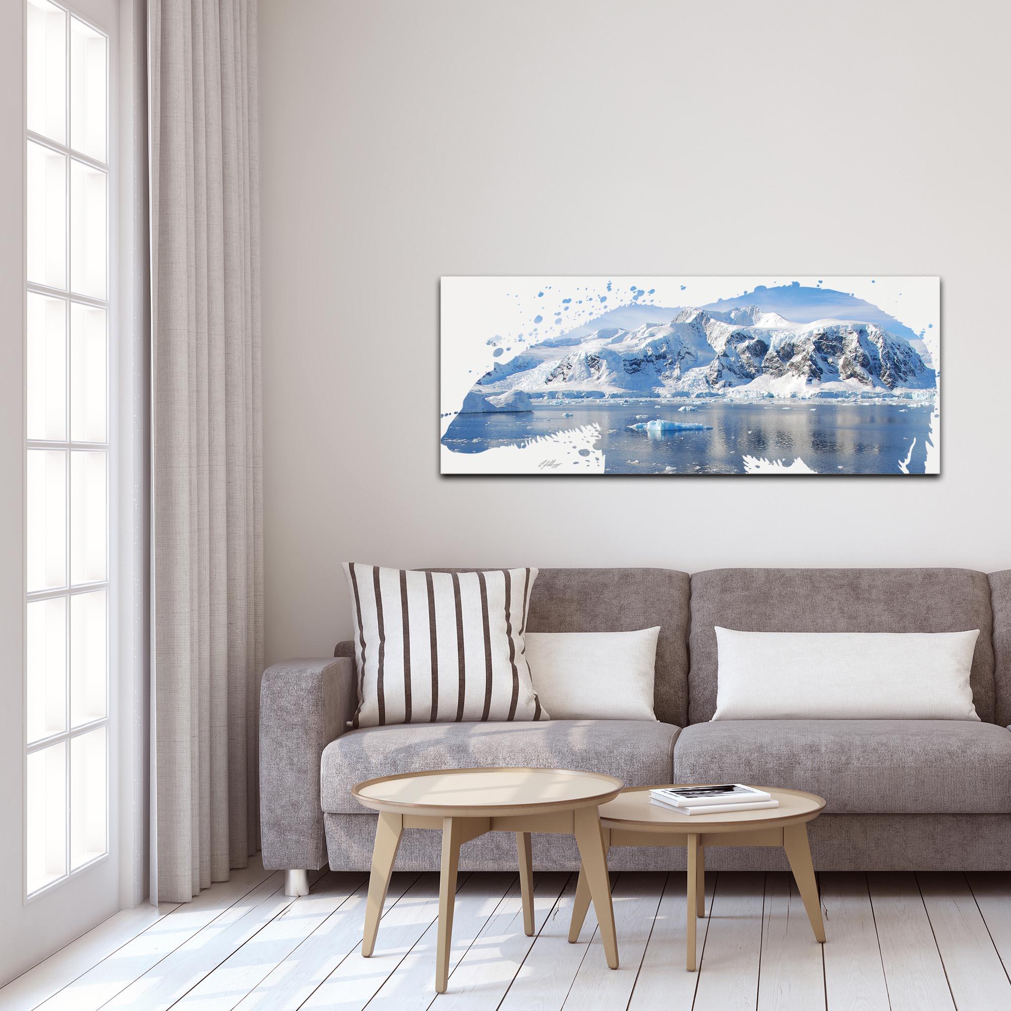 Polar Bear Arctic by Adam Schwoeppe Animal Silhouette on White Metal - Lifestyle View