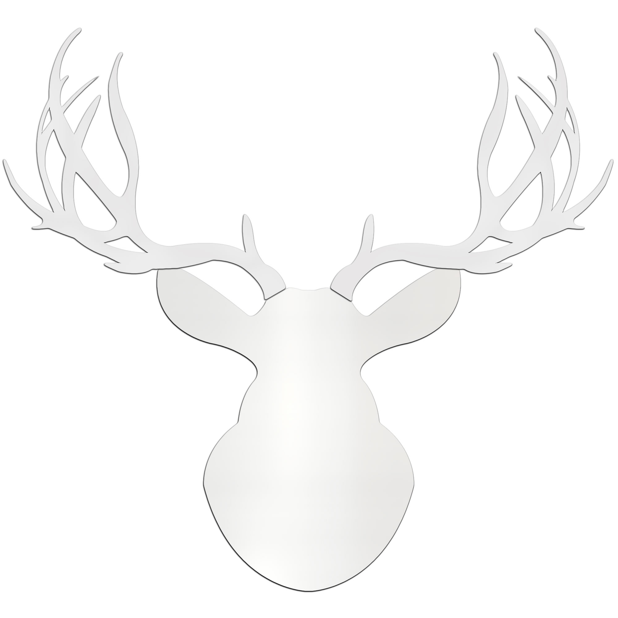 SNOW BUCK - 36x36 in. Pure White Deer Cut-Out