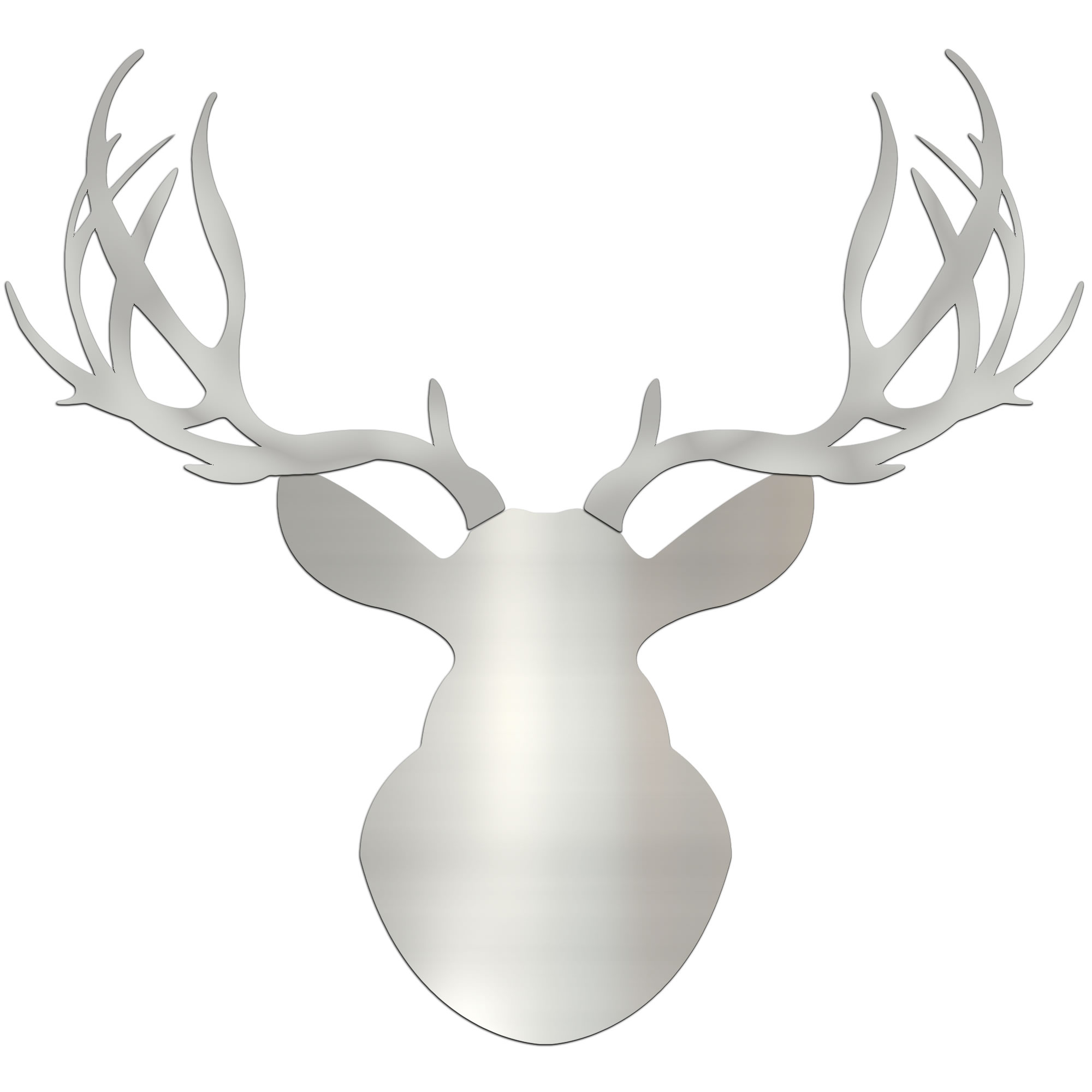 SILVER BUCK - 36x36 in. Metallic Deer Cut-Out