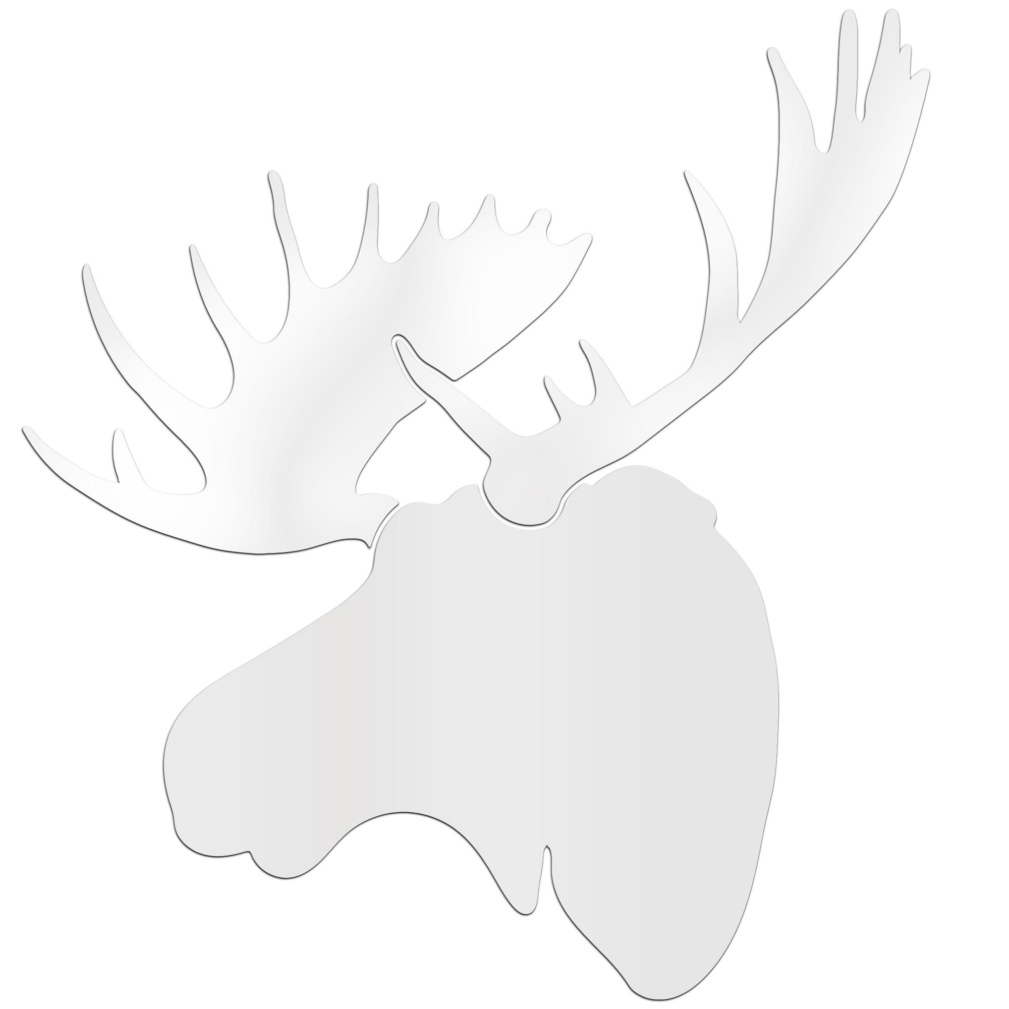 SNOW MOOSE - 36x36 in. Pure White D?cor