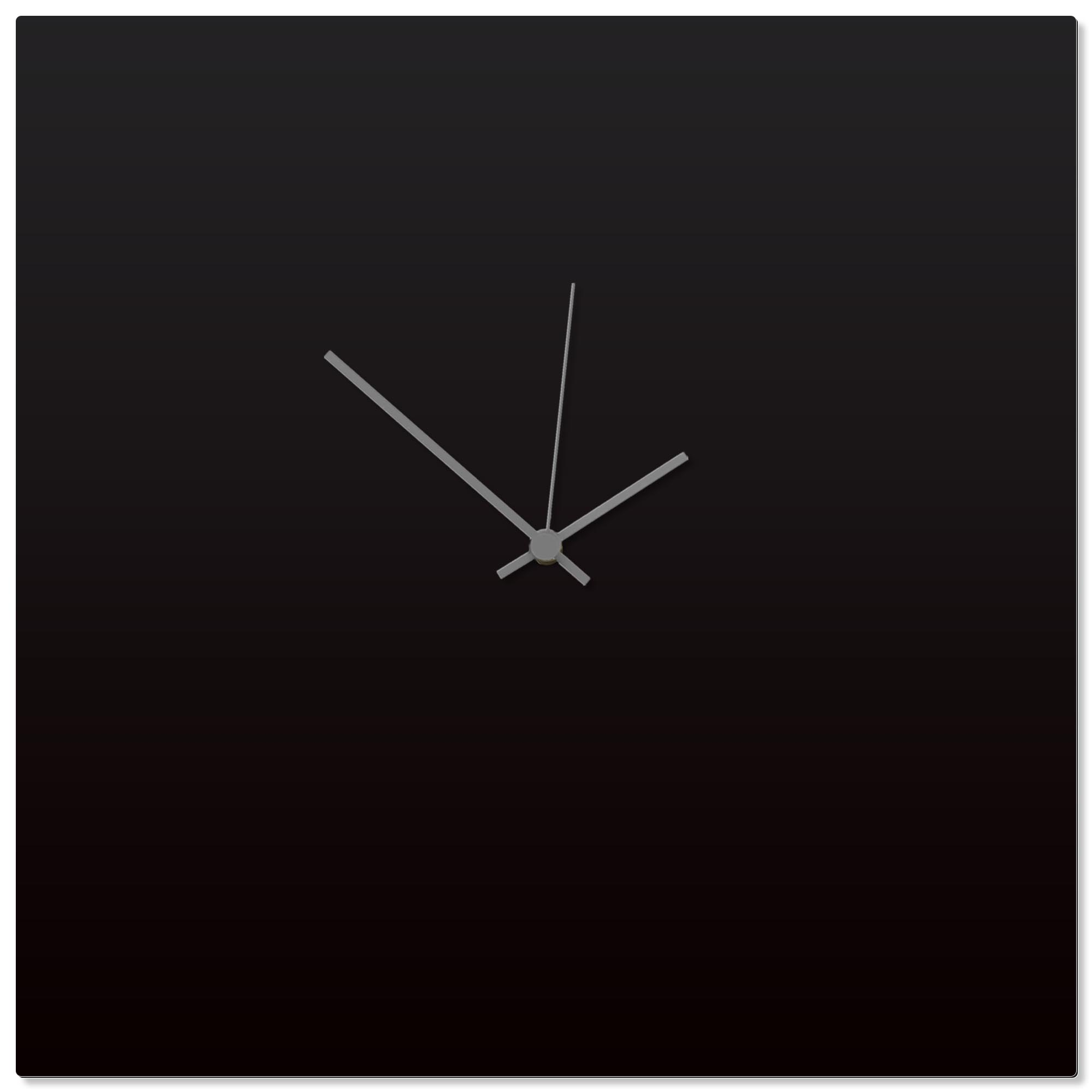 Blackout Grey Square Clock Large 23x23in. Aluminum Polymetal
