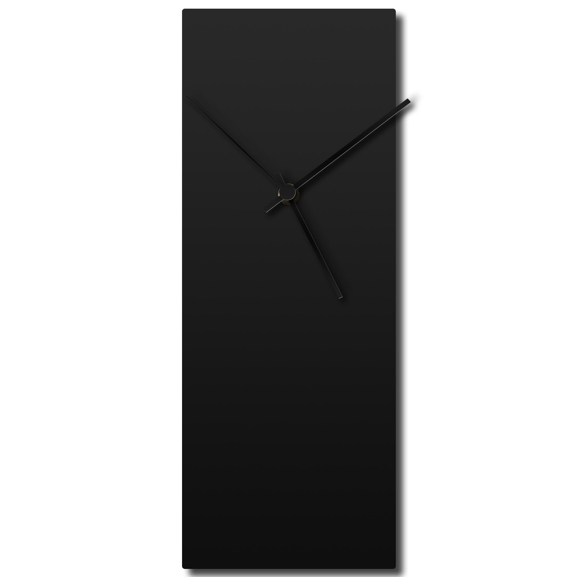 Blackout Black Clock 6x16in. Aluminum Polymetal