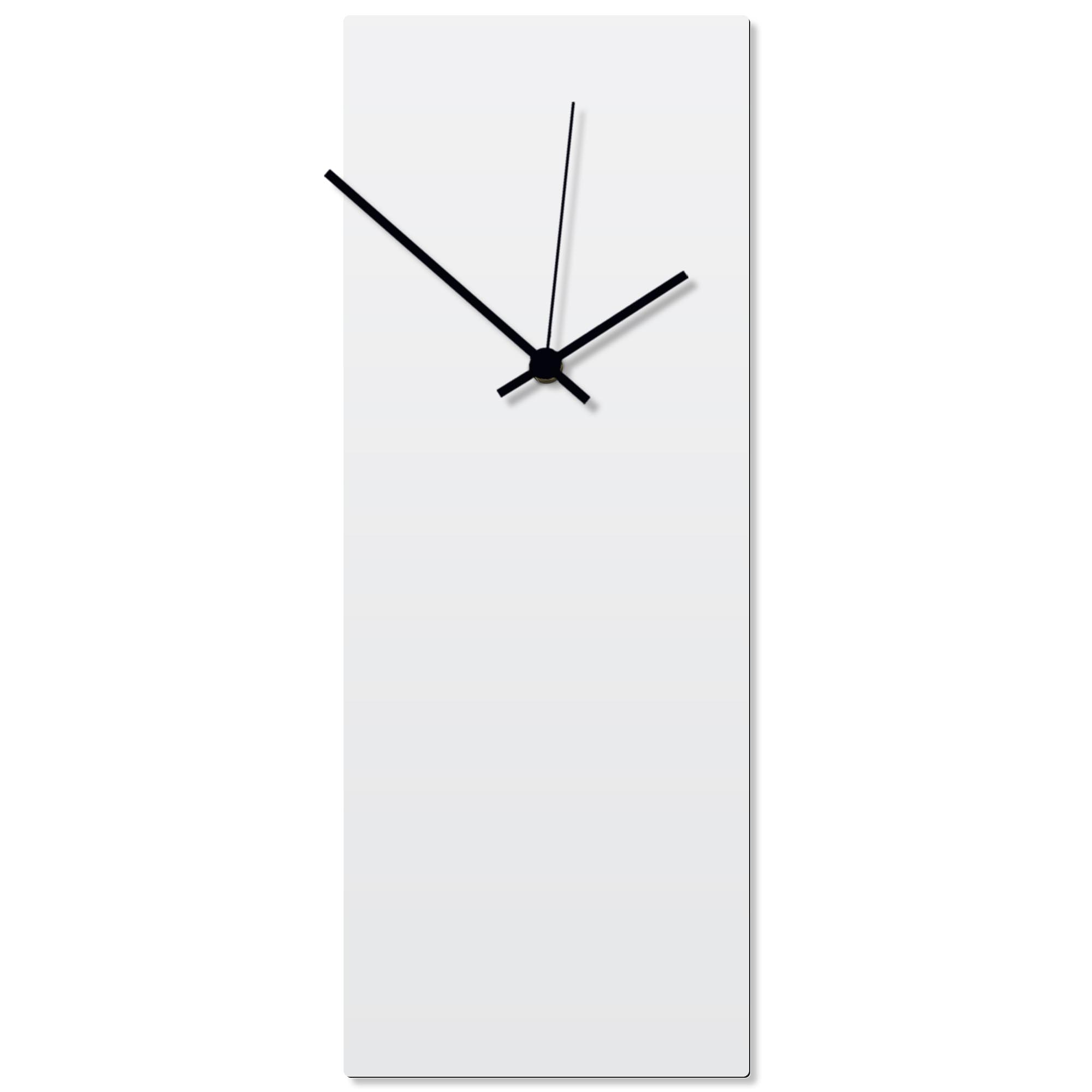 Whiteout Black Clock Large 8.25x22in. Aluminum Polymetal