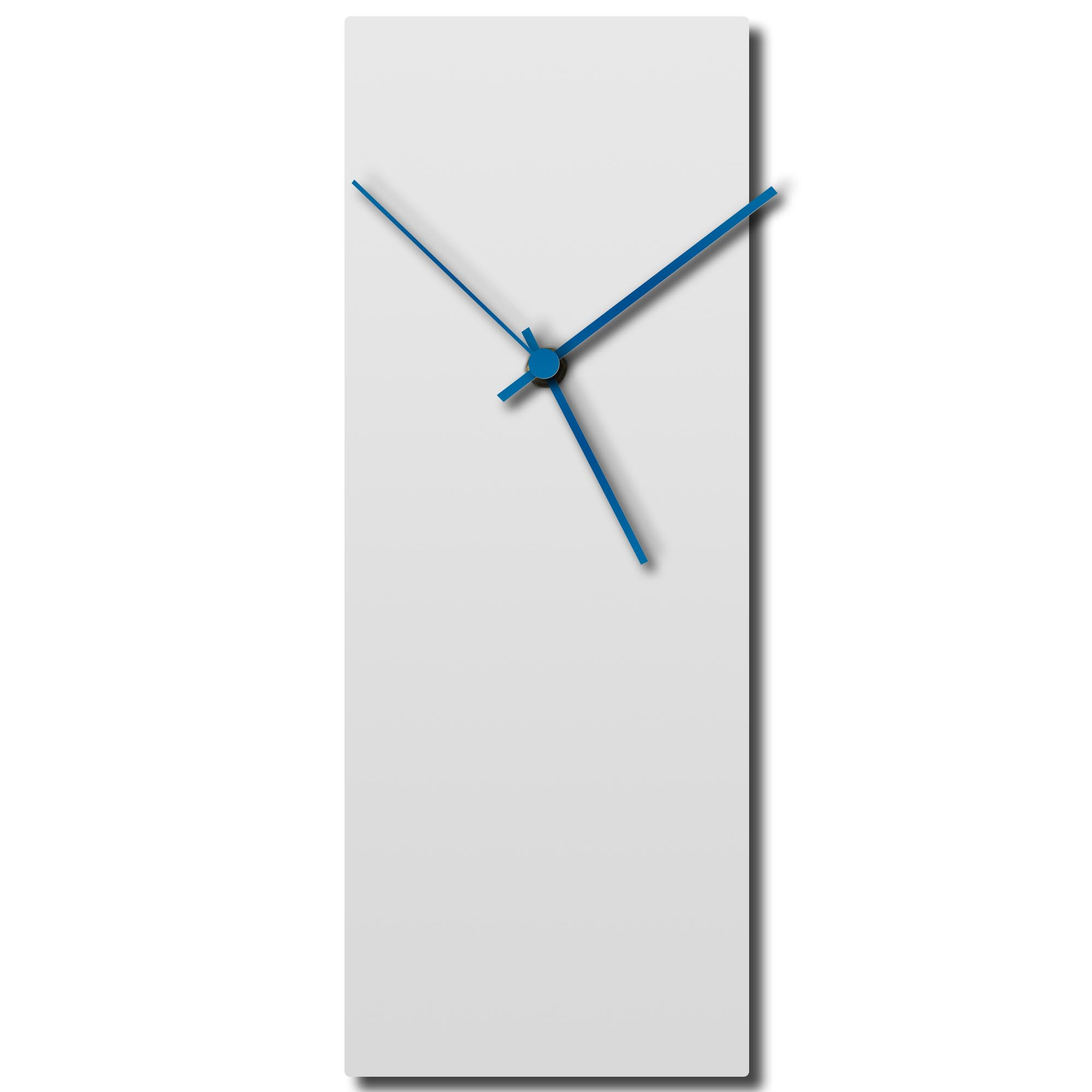 Whiteout Blue Clock 8.25x22in. Aluminum Polymetal