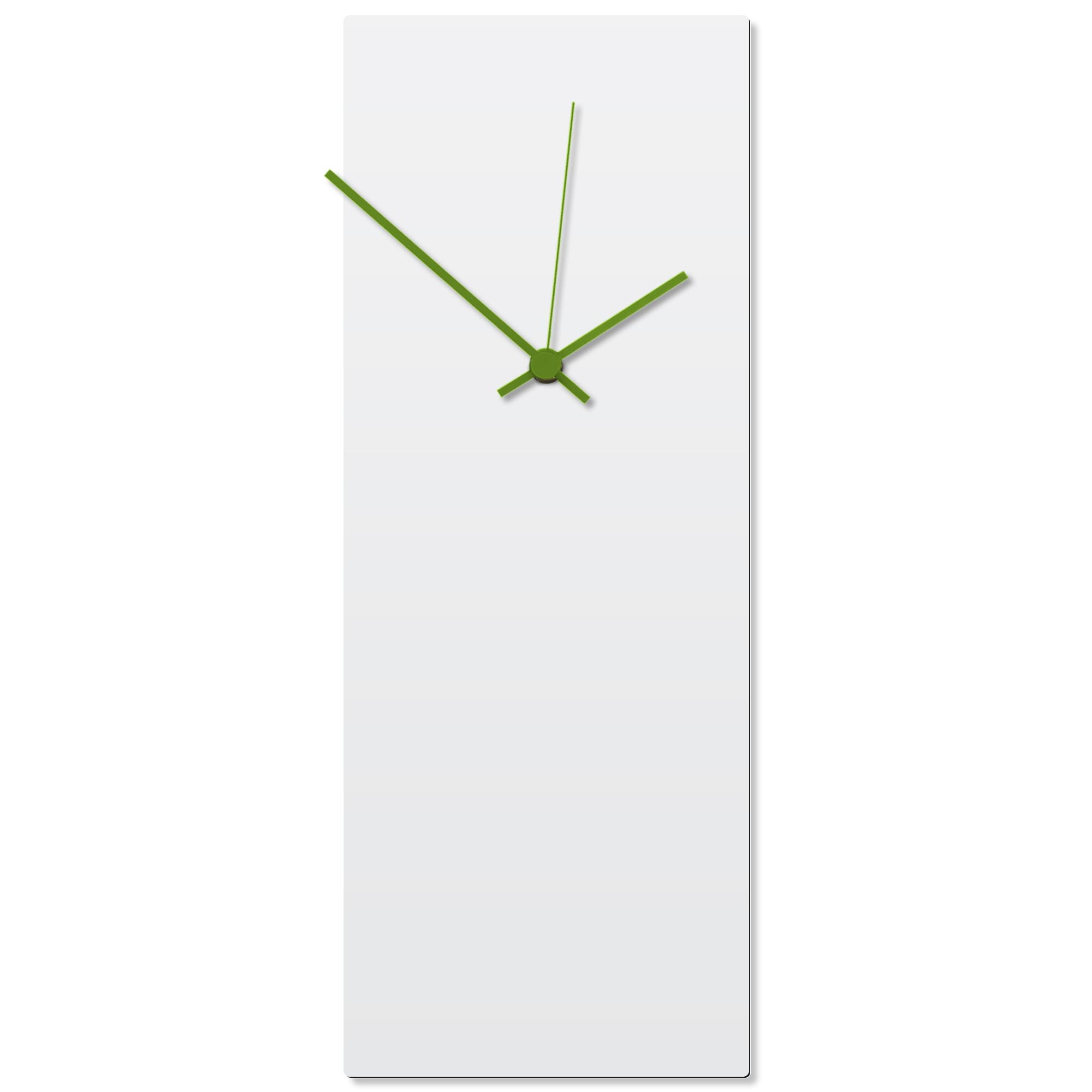 Whiteout Green Clock Large 8.25x22in. Aluminum Polymetal