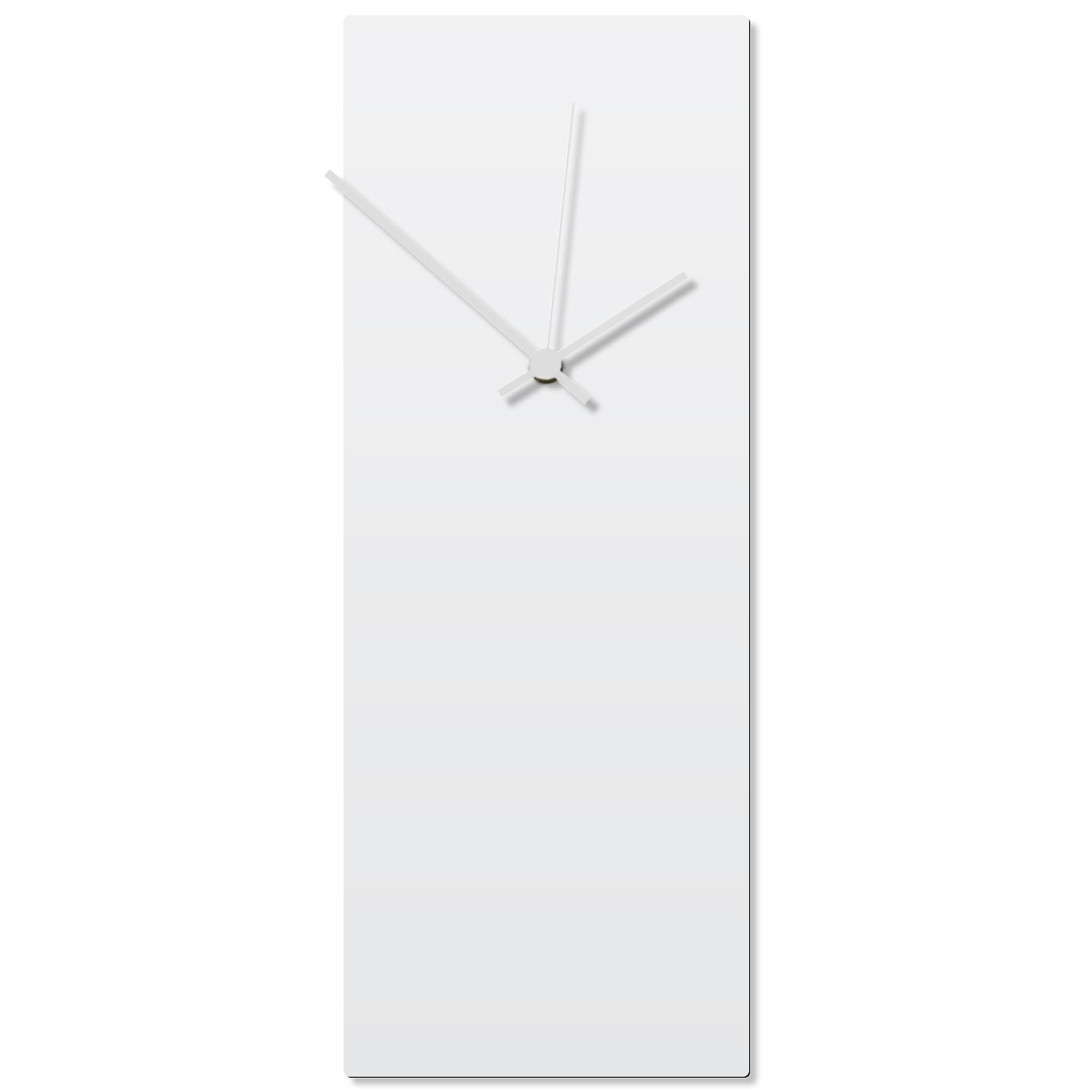 Whiteout White Clock Large 8.25x22in. Aluminum Polymetal
