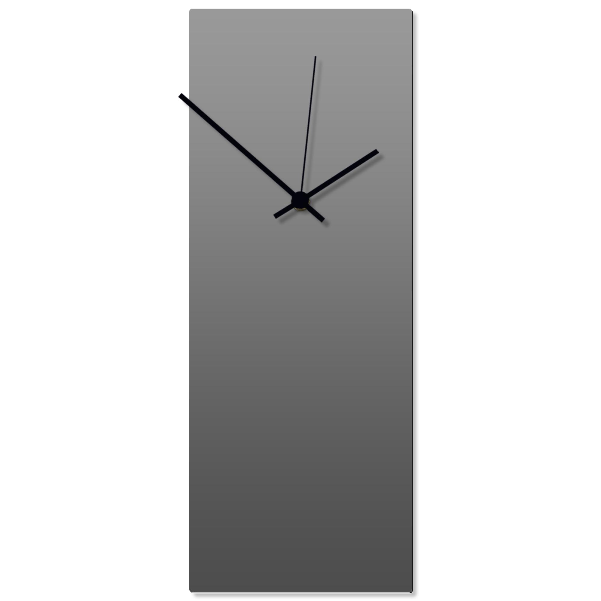 Grayout Black Clock Large 8.25x22in. Aluminum Polymetal