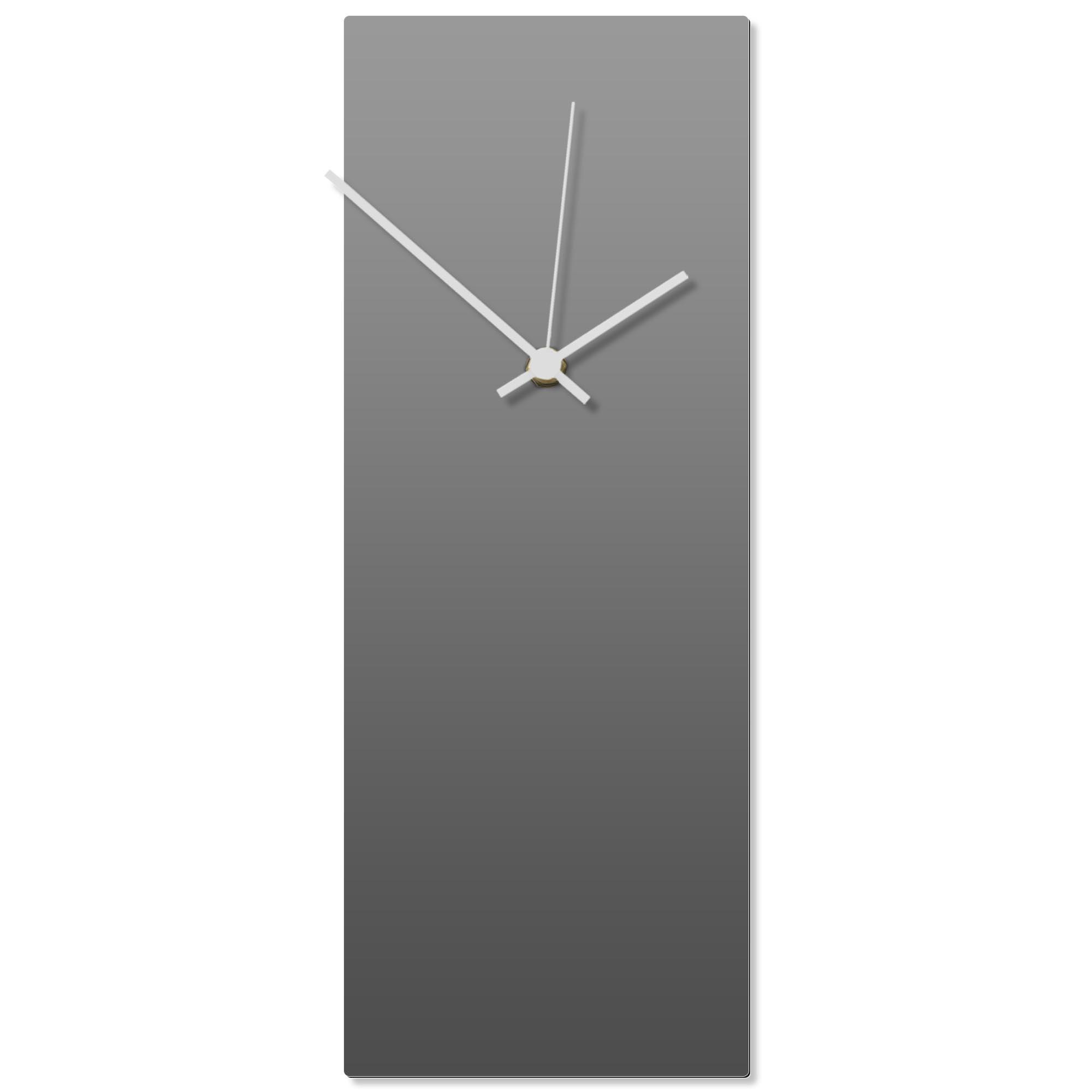 Grayout White Clock 6x16in. Aluminum Polymetal