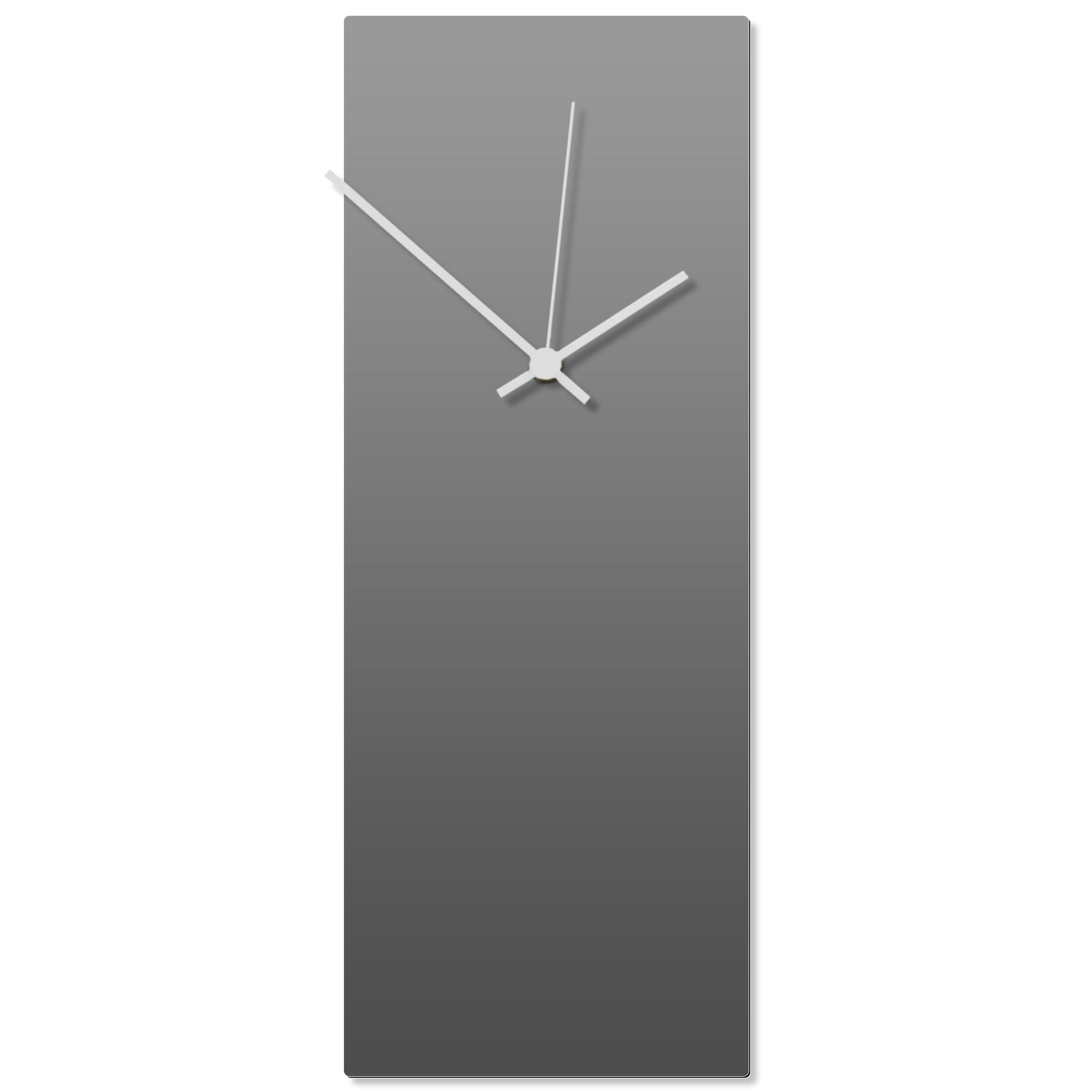 Grayout White Clock Large 8.25x22in. Aluminum Polymetal