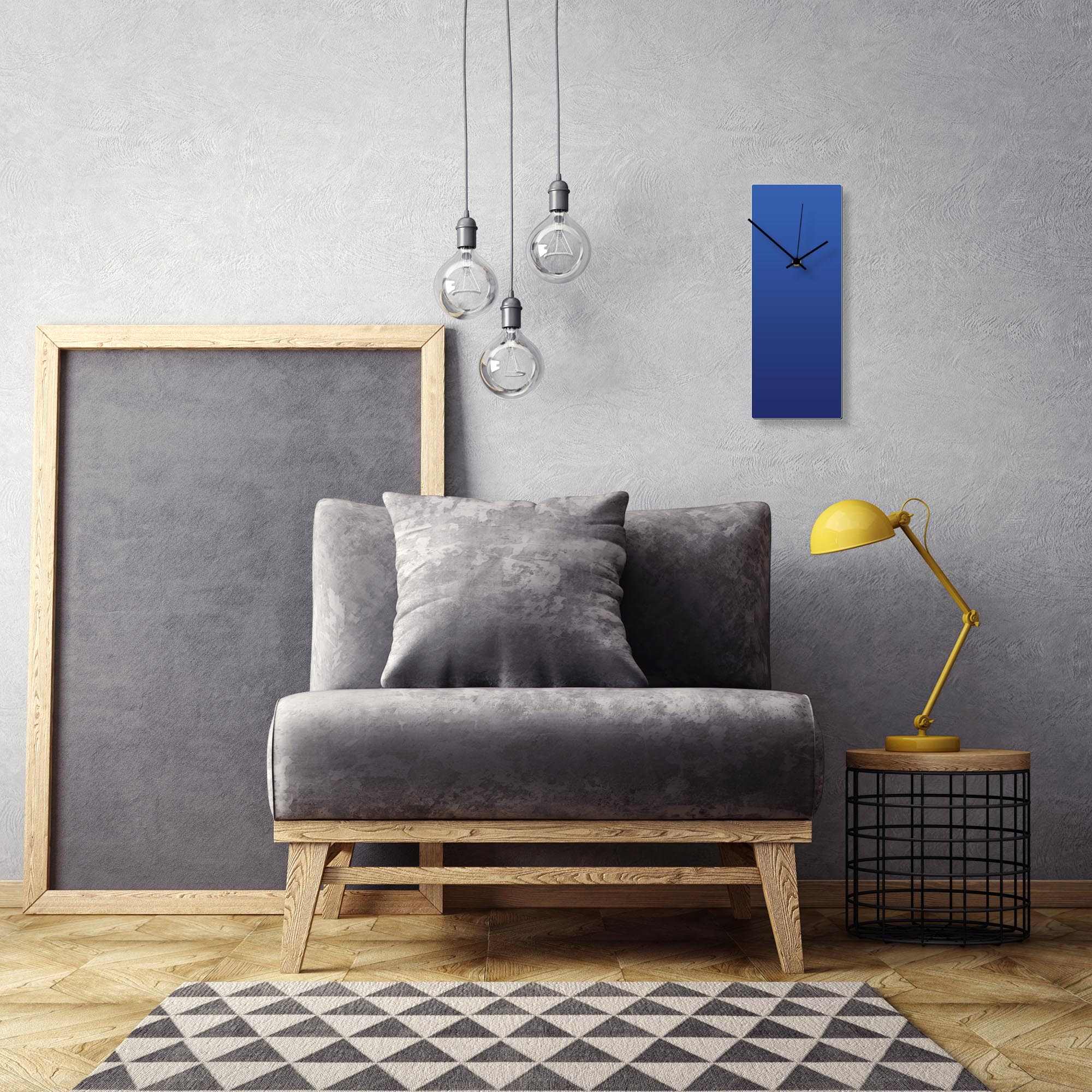 Blueout Black Clock by Adam Schwoeppe Contemporary Clock on Aluminum Polymetal - Alternate View 1