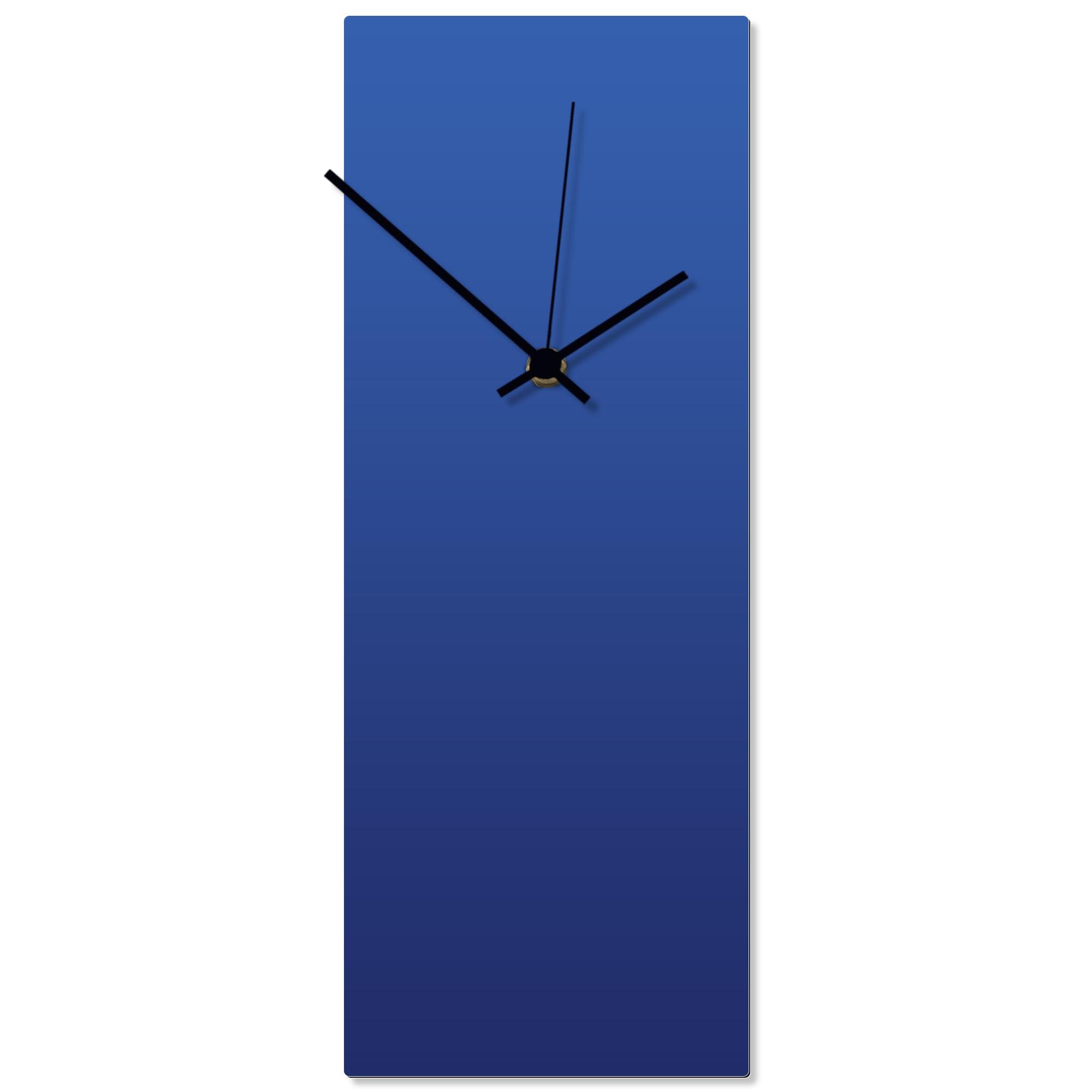 Blueout Black Clock 6x16in. Aluminum Polymetal