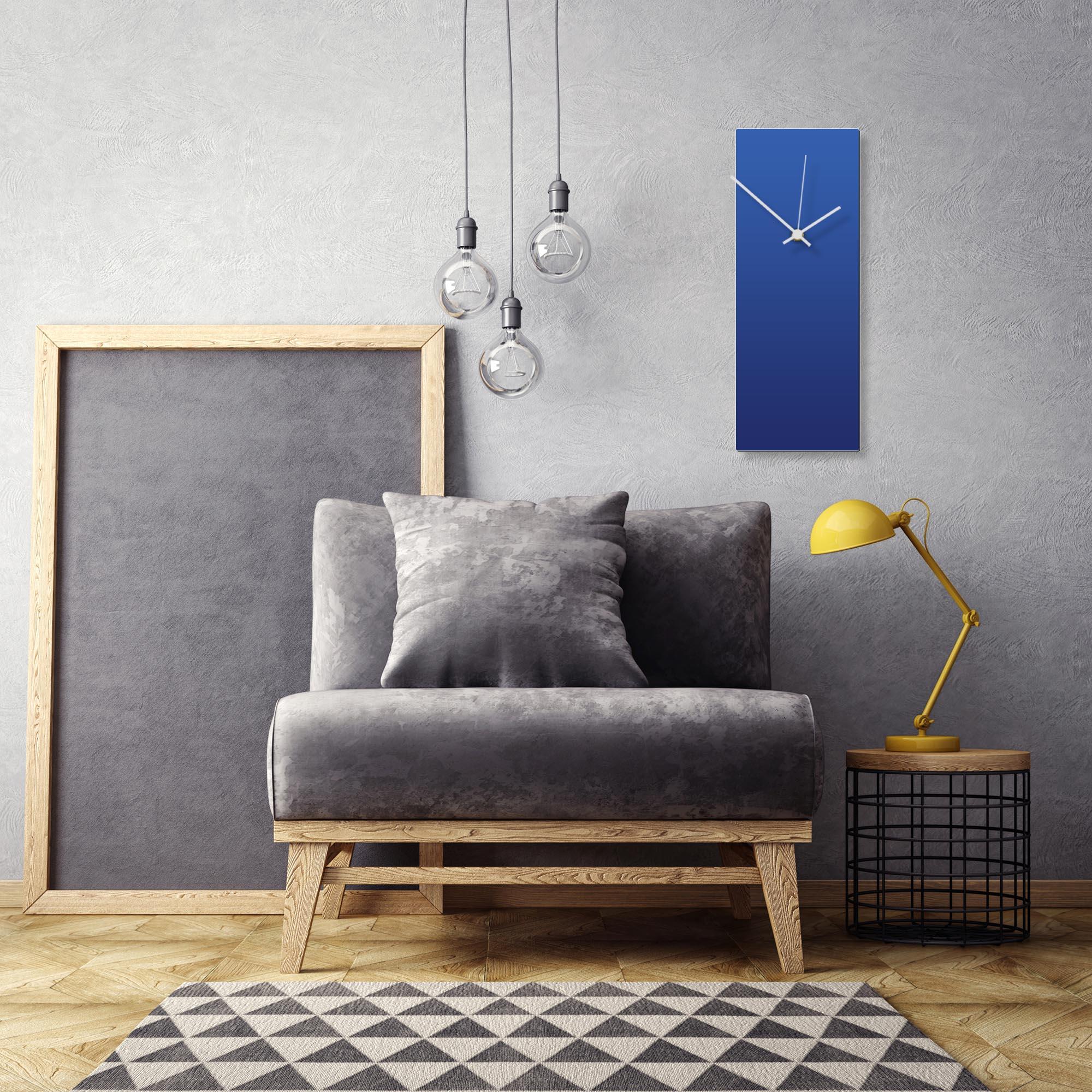 Blueout White Clock Large by Adam Schwoeppe Contemporary Clock on Aluminum Polymetal - Alternate View 1