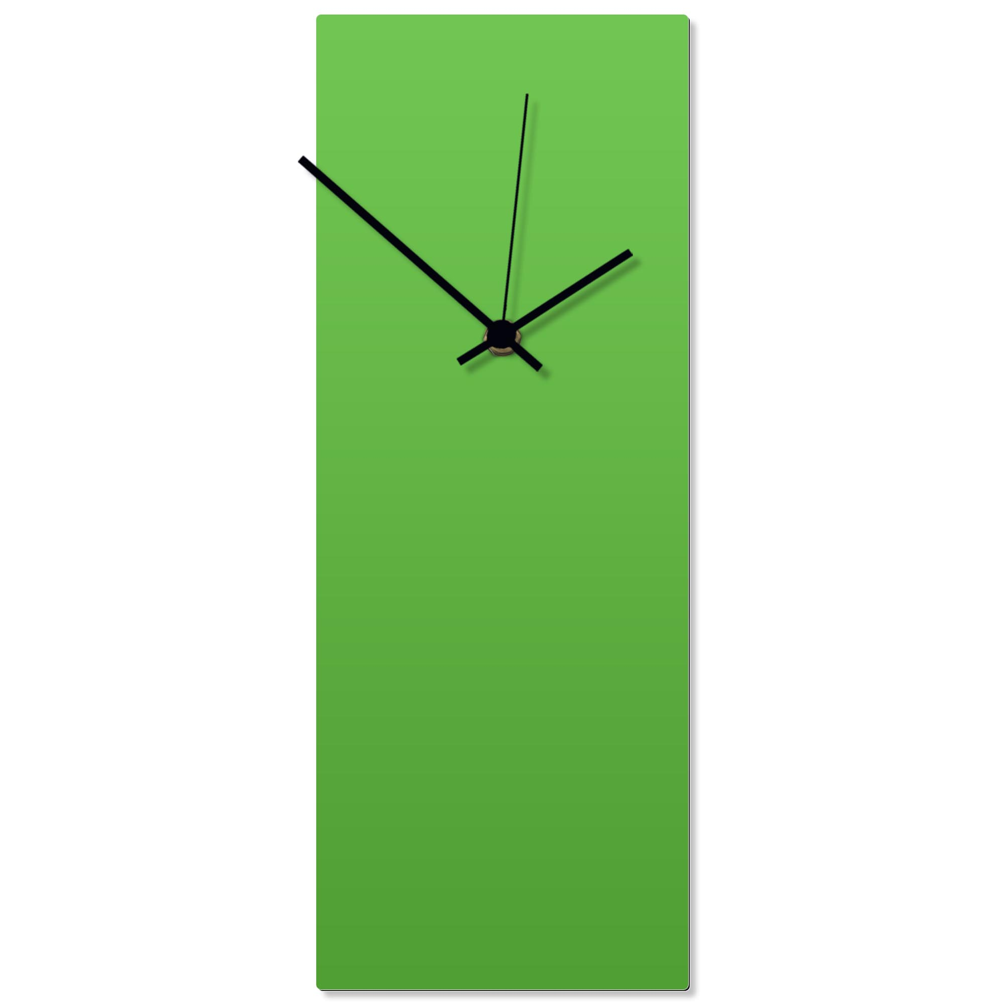 Greenout Black Clock 6x16in. Aluminum Polymetal