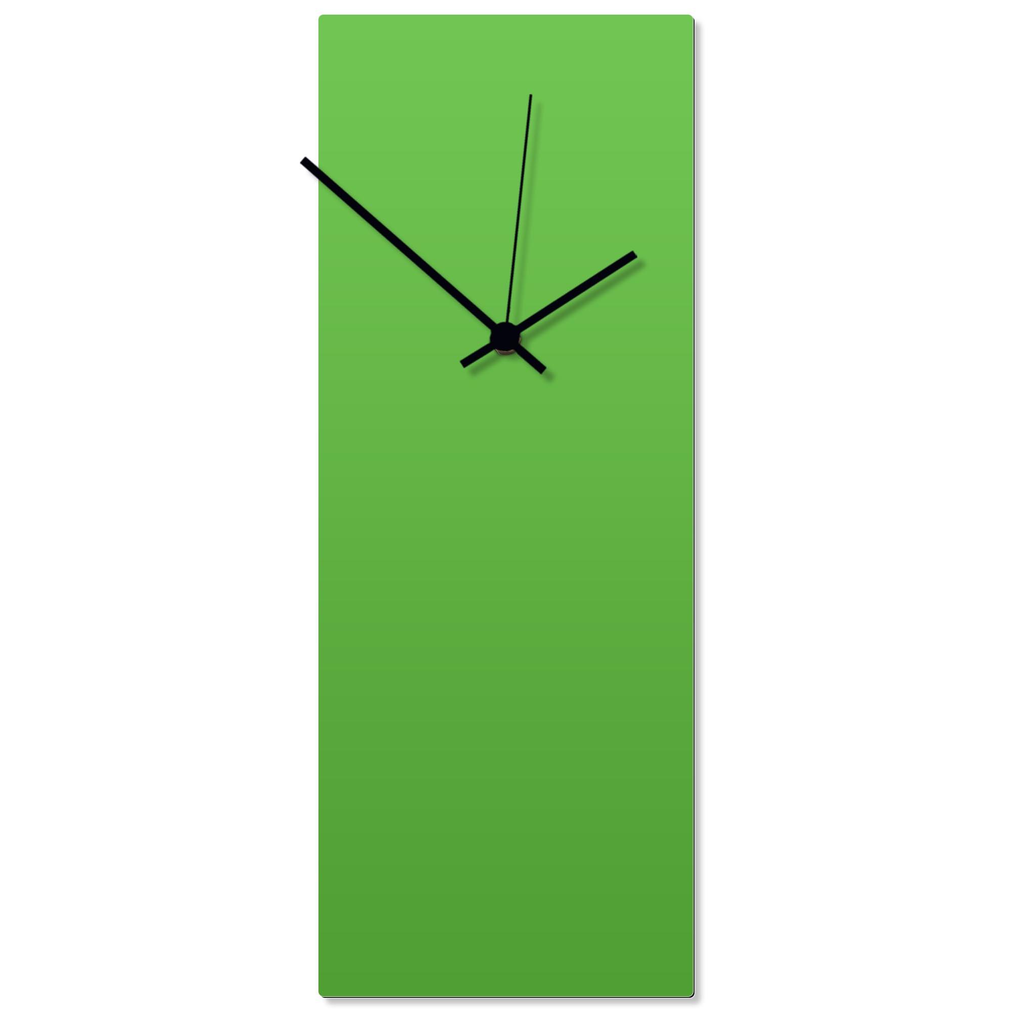 Greenout Black Clock Large 8.25x22in. Aluminum Polymetal