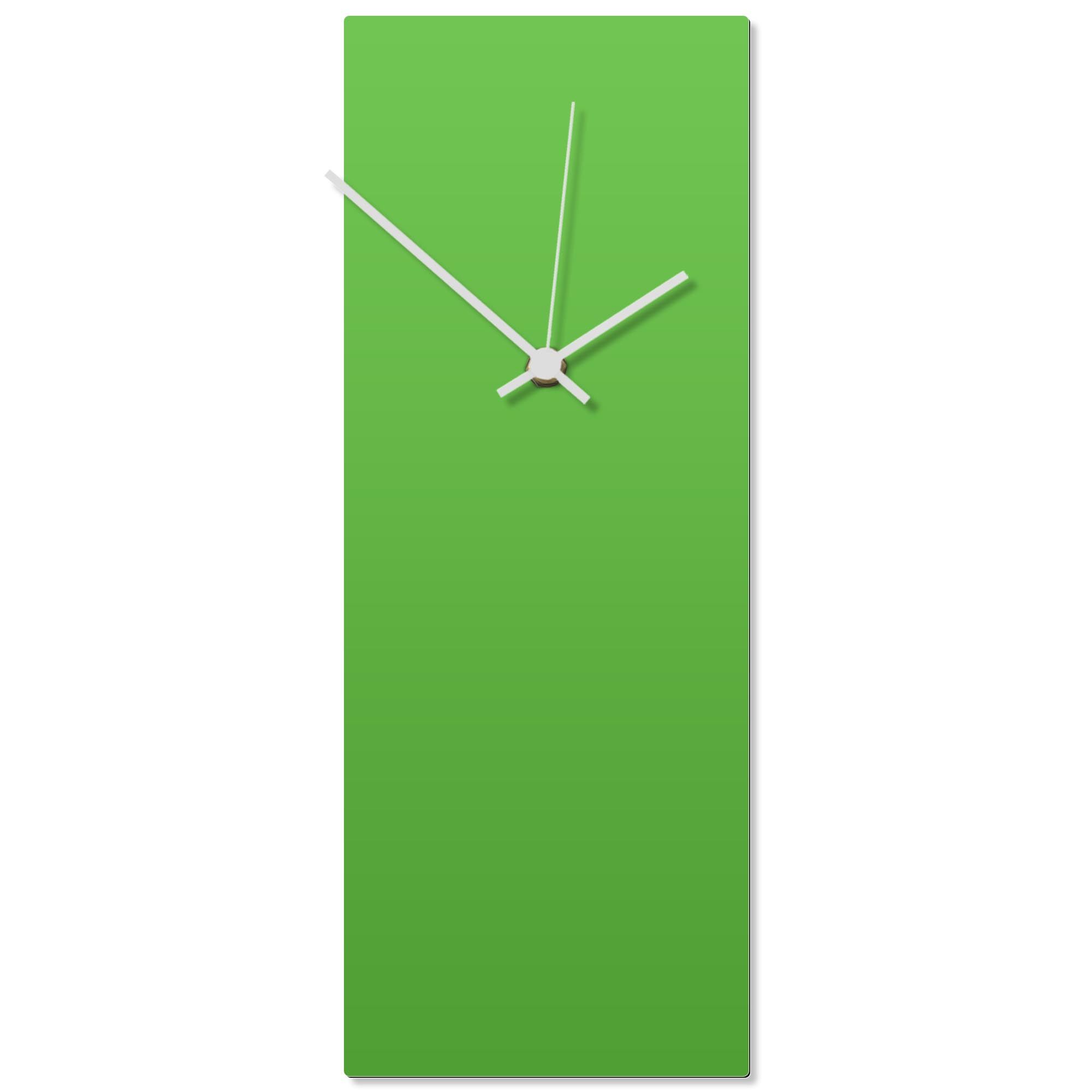 Greenout White Clock 6x16in. Aluminum Polymetal