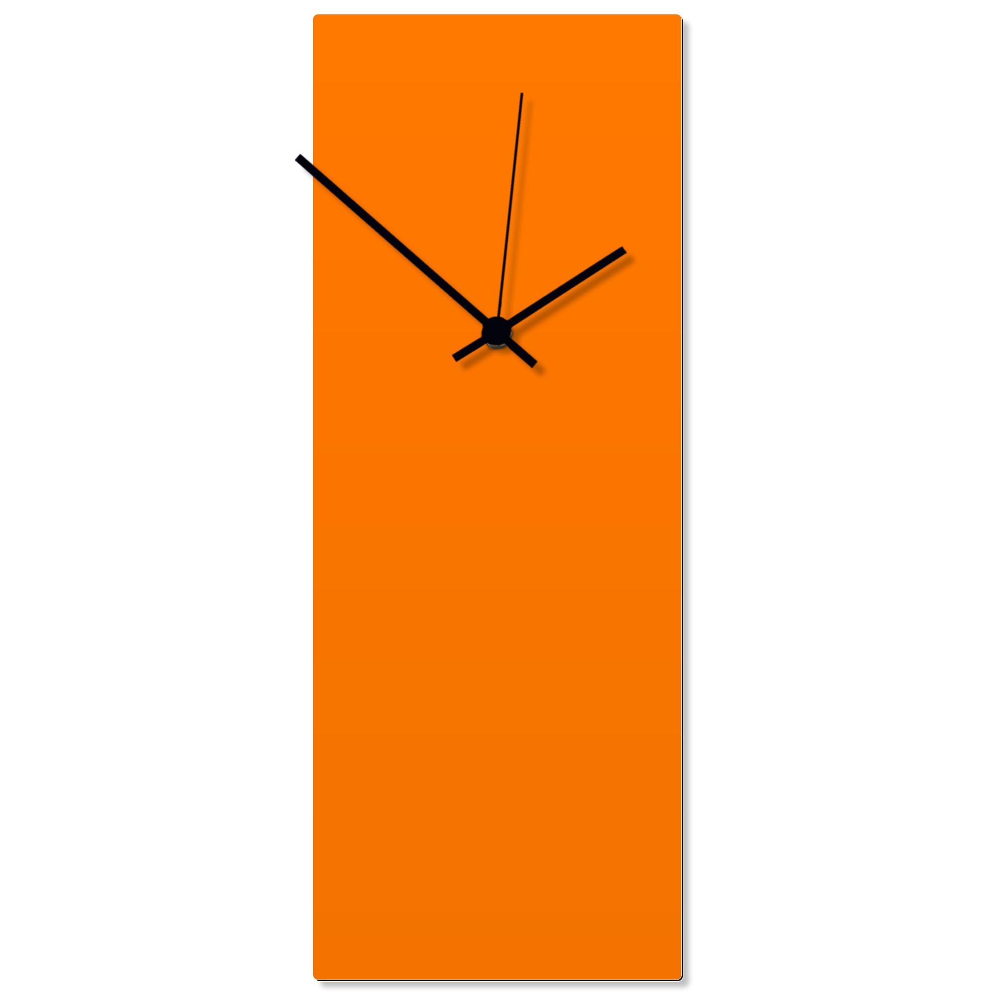 Orangeout Black Clock Large 8.25x22in. Aluminum Polymetal