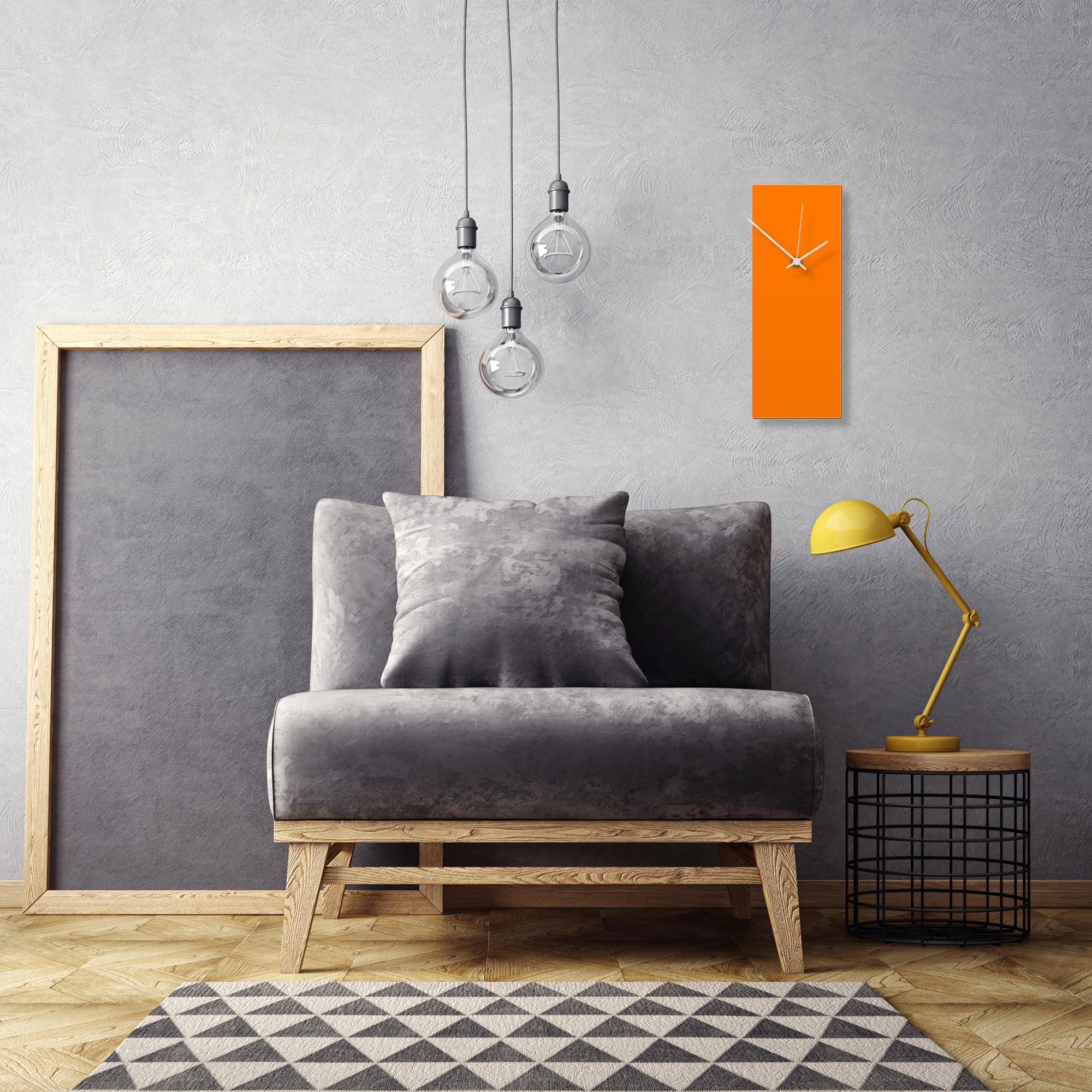 Orangeout White Clock by Adam Schwoeppe Contemporary Clock on Aluminum Polymetal - Alternate View 1