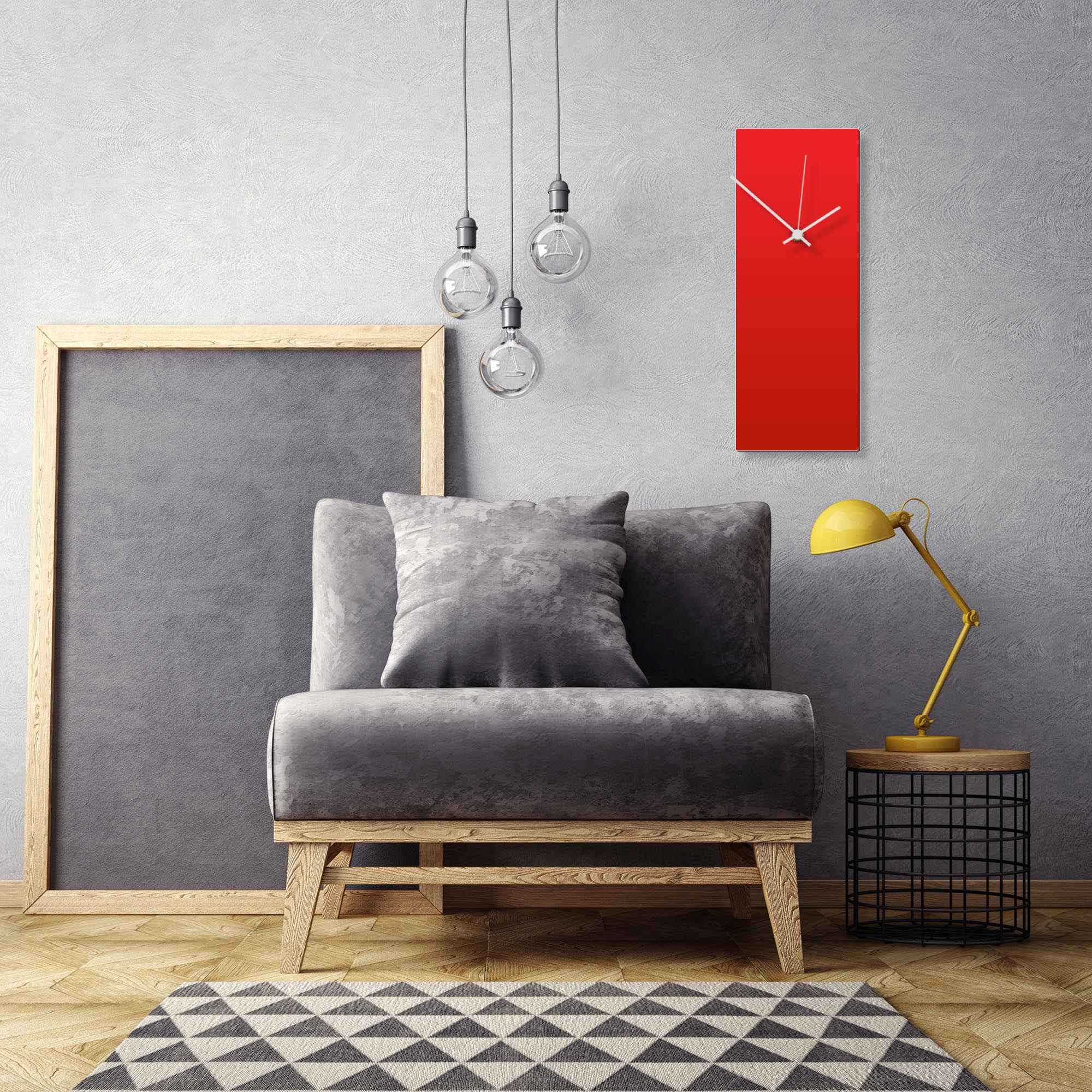 Redout White Clock Large by Adam Schwoeppe Contemporary Clock on Aluminum Polymetal - Alternate View 1