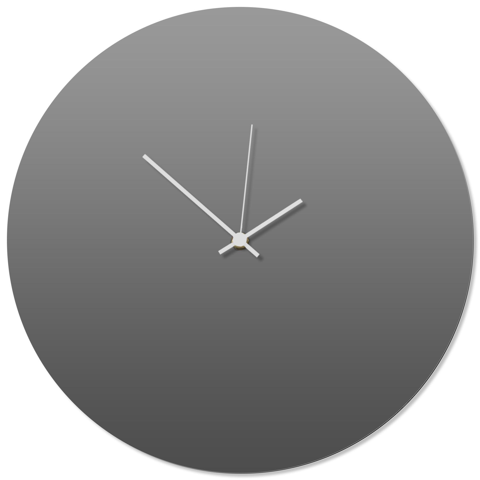 Grayout White Circle Clock 16x16in. Aluminum Polymetal