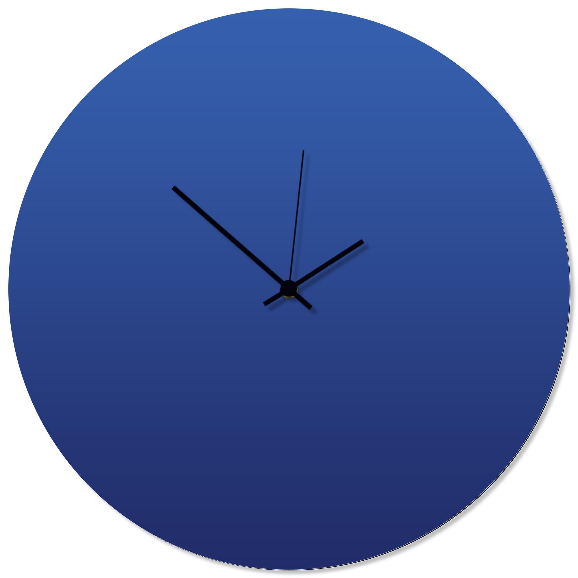 Blueout Black Circle Clock Large 23x23in. Aluminum Polymetal