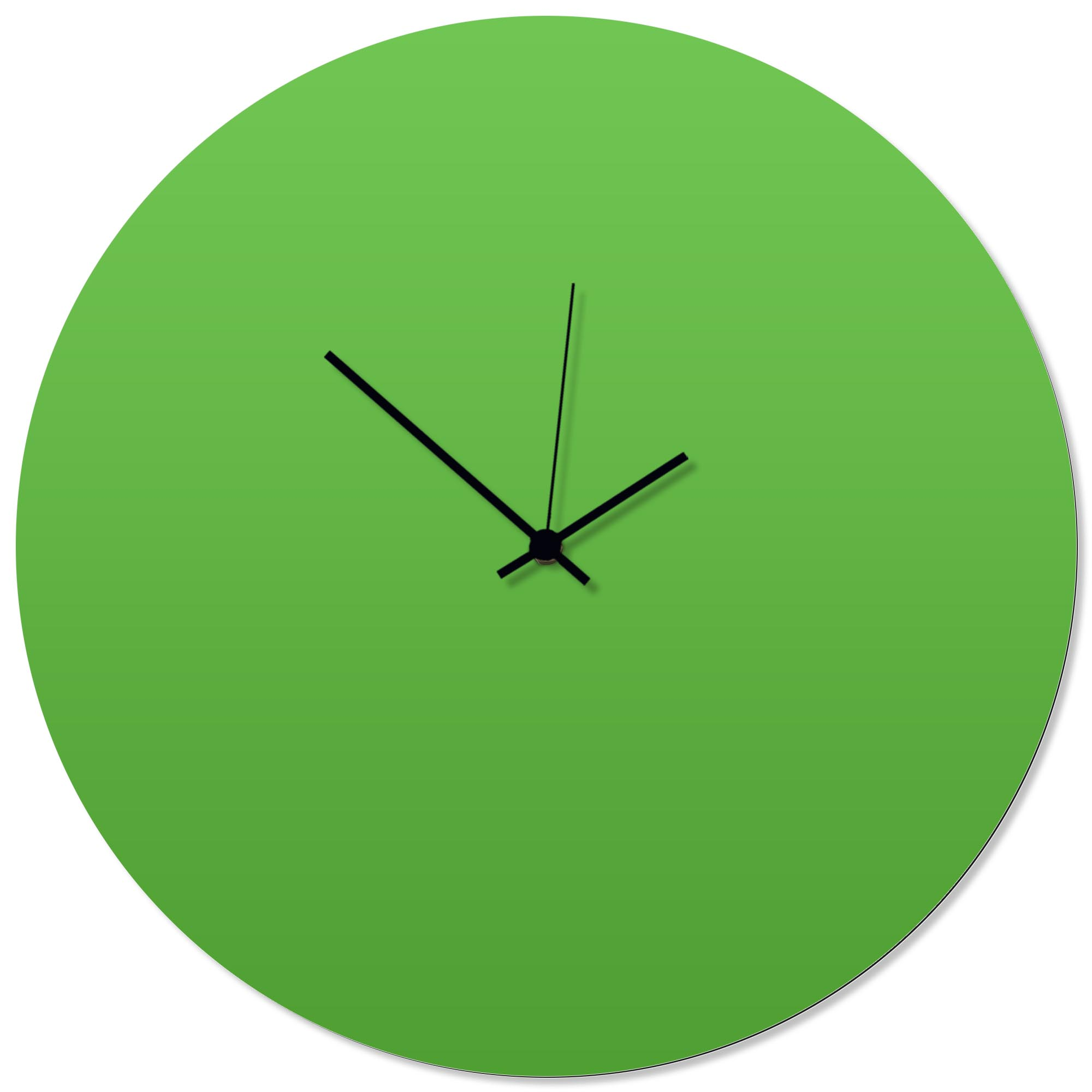 Greenout Black Circle Clock Large 23x23in. Aluminum Polymetal