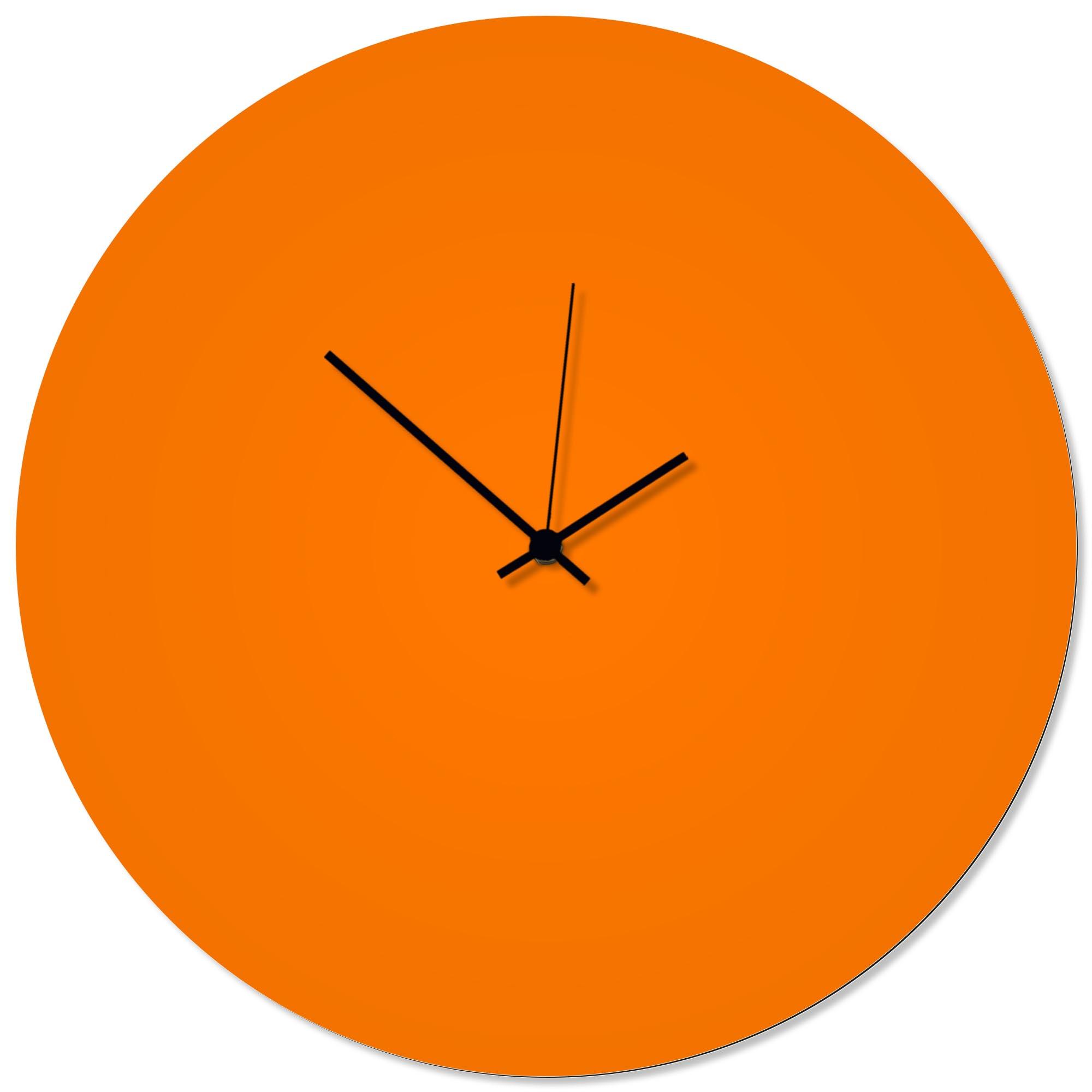Orangeout Black Circle Clock Large 23x23in. Aluminum Polymetal