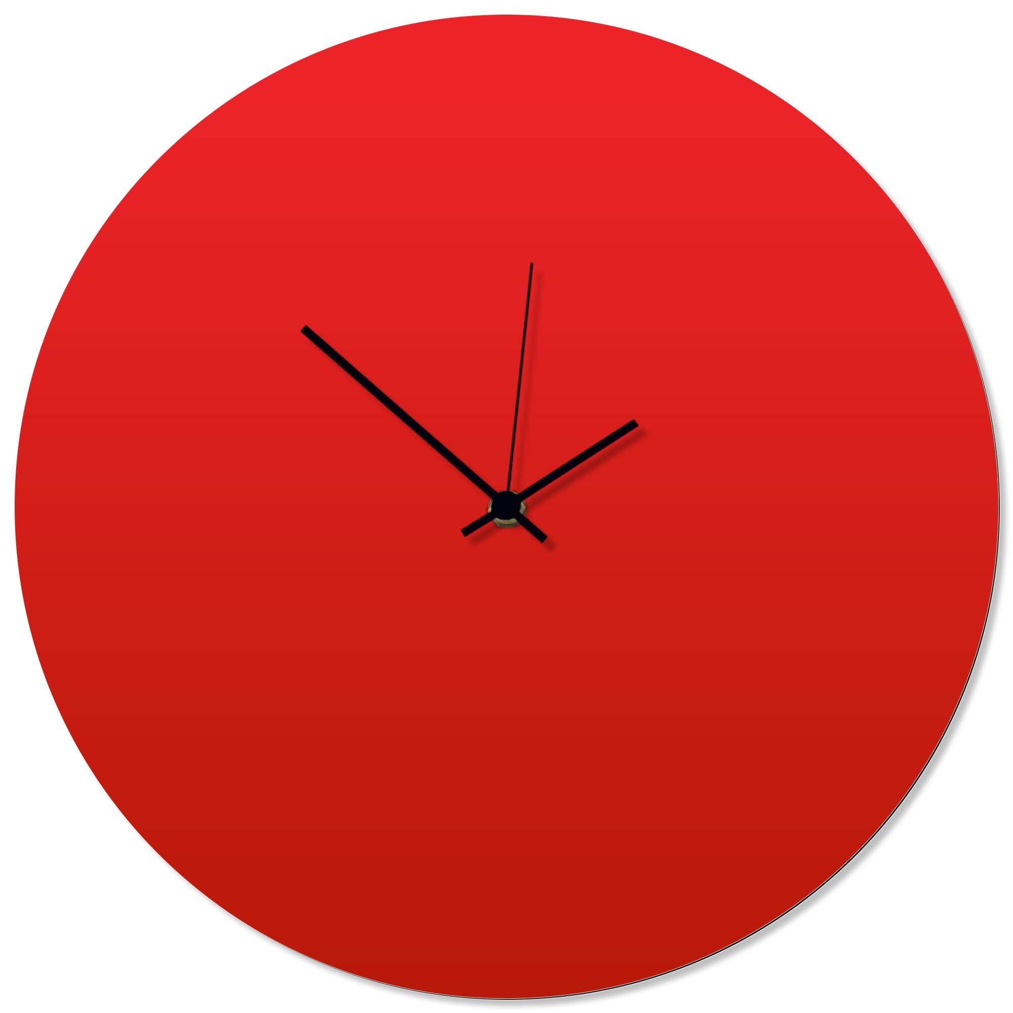 Redout Black Circle Clock 16x16in. Aluminum Polymetal