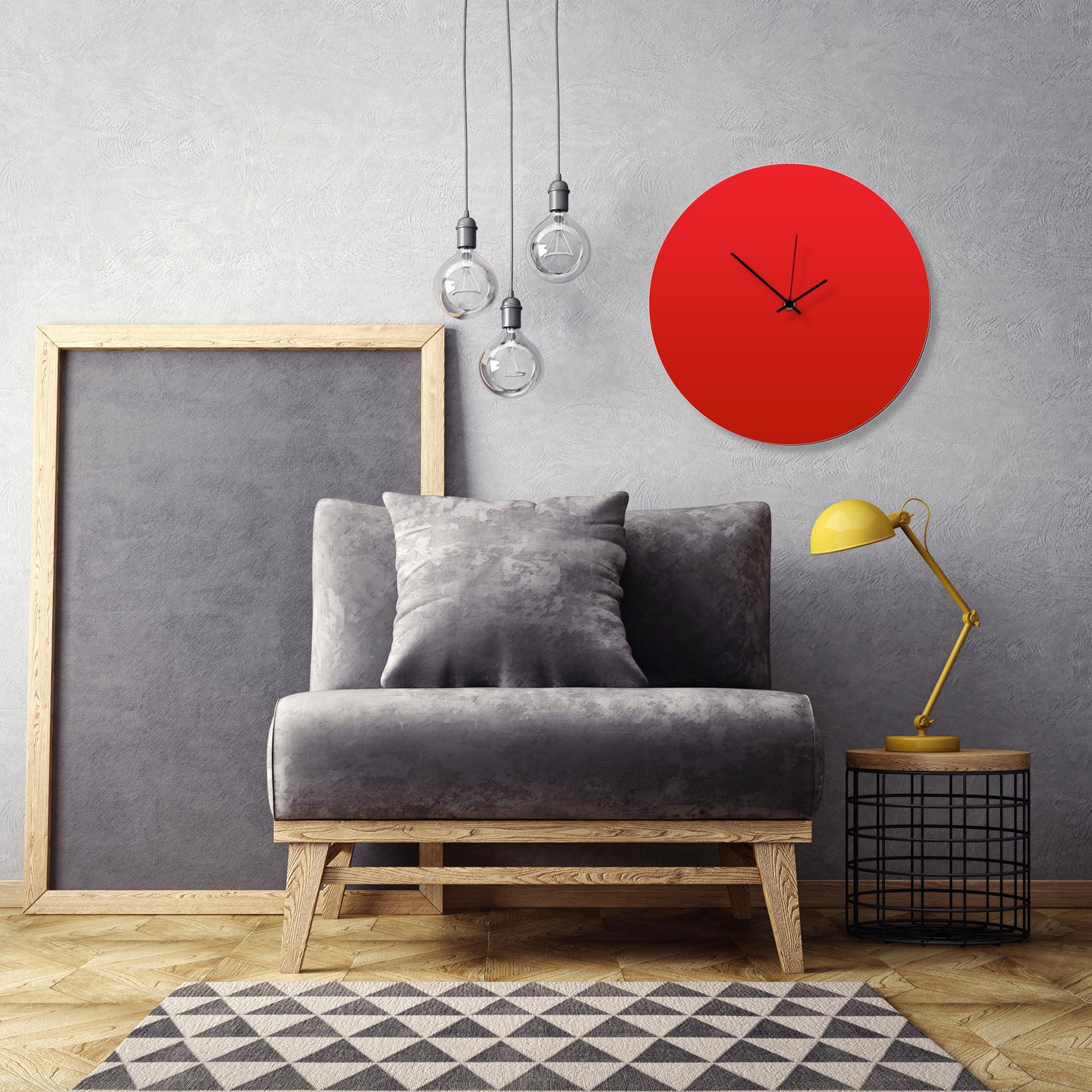 Redout Black Circle Clock Large by Adam Schwoeppe Contemporary Clock on Aluminum Polymetal - Alternate View 1