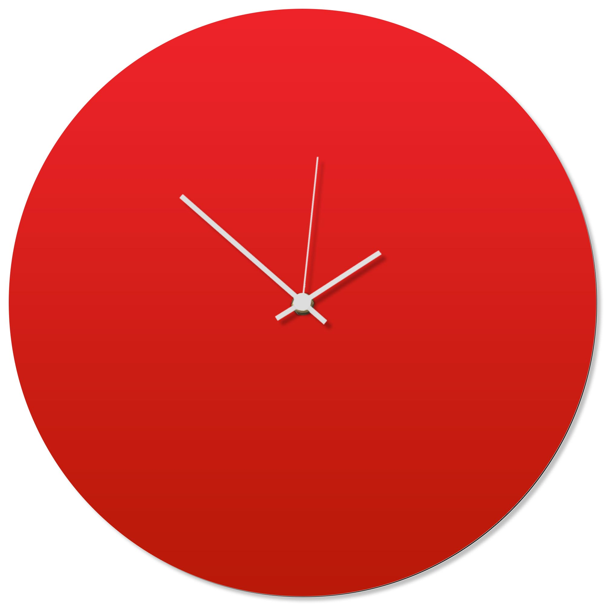 Redout White Circle Clock 16x16in. Aluminum Polymetal