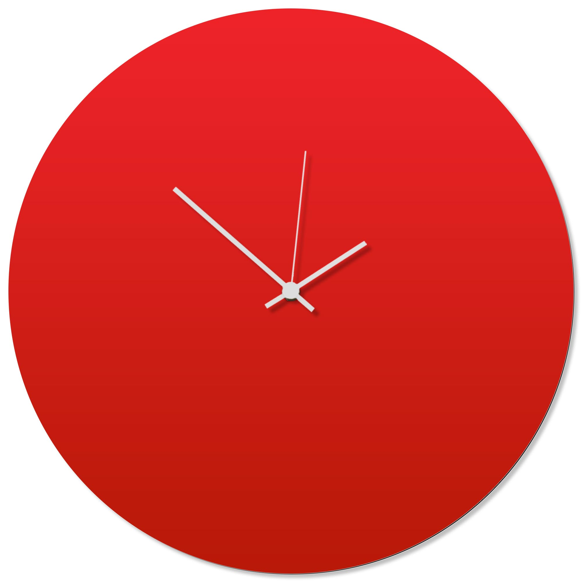 Redout White Circle Clock Large 23x23in. Aluminum Polymetal