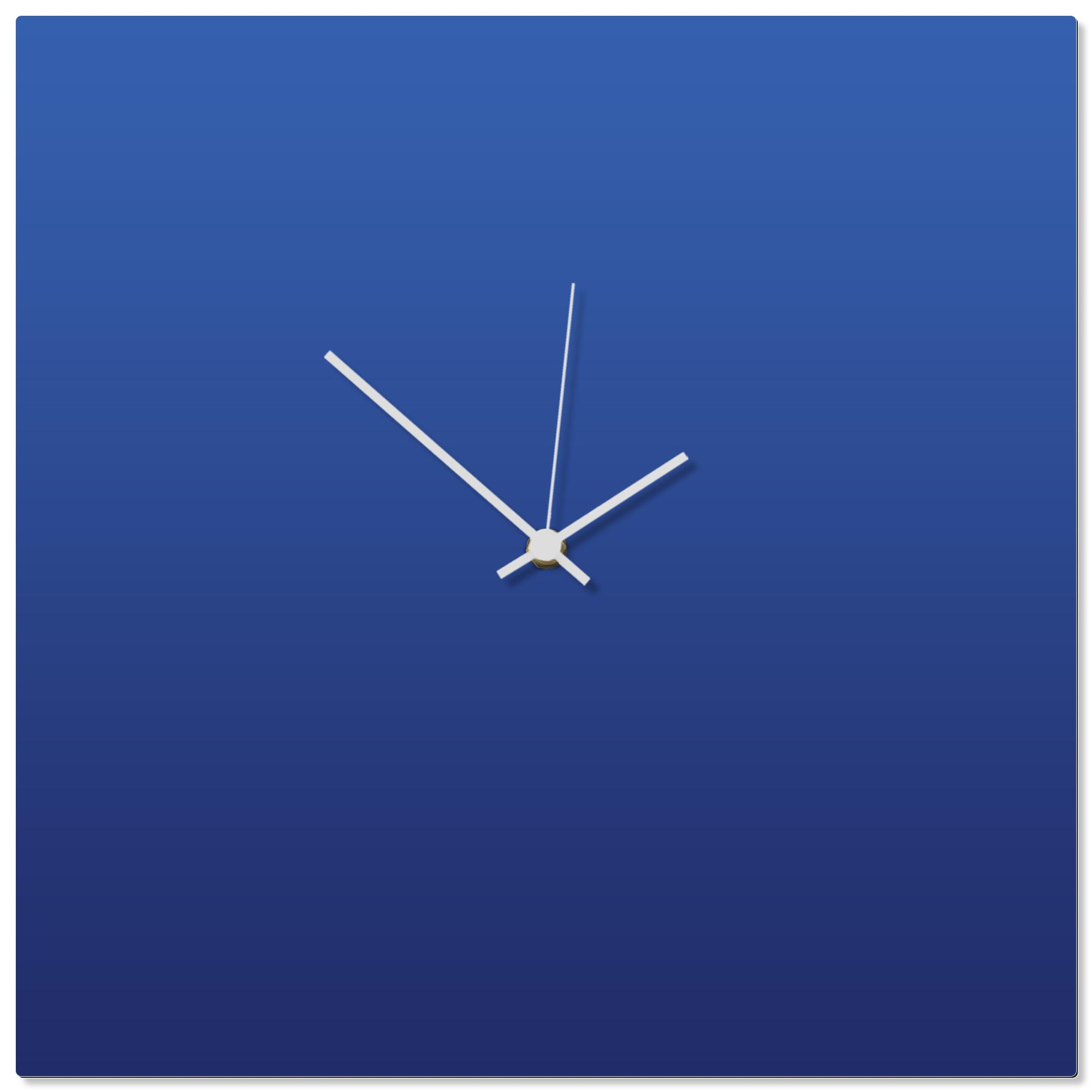 Blueout White Square Clock 16x16in. Aluminum Polymetal