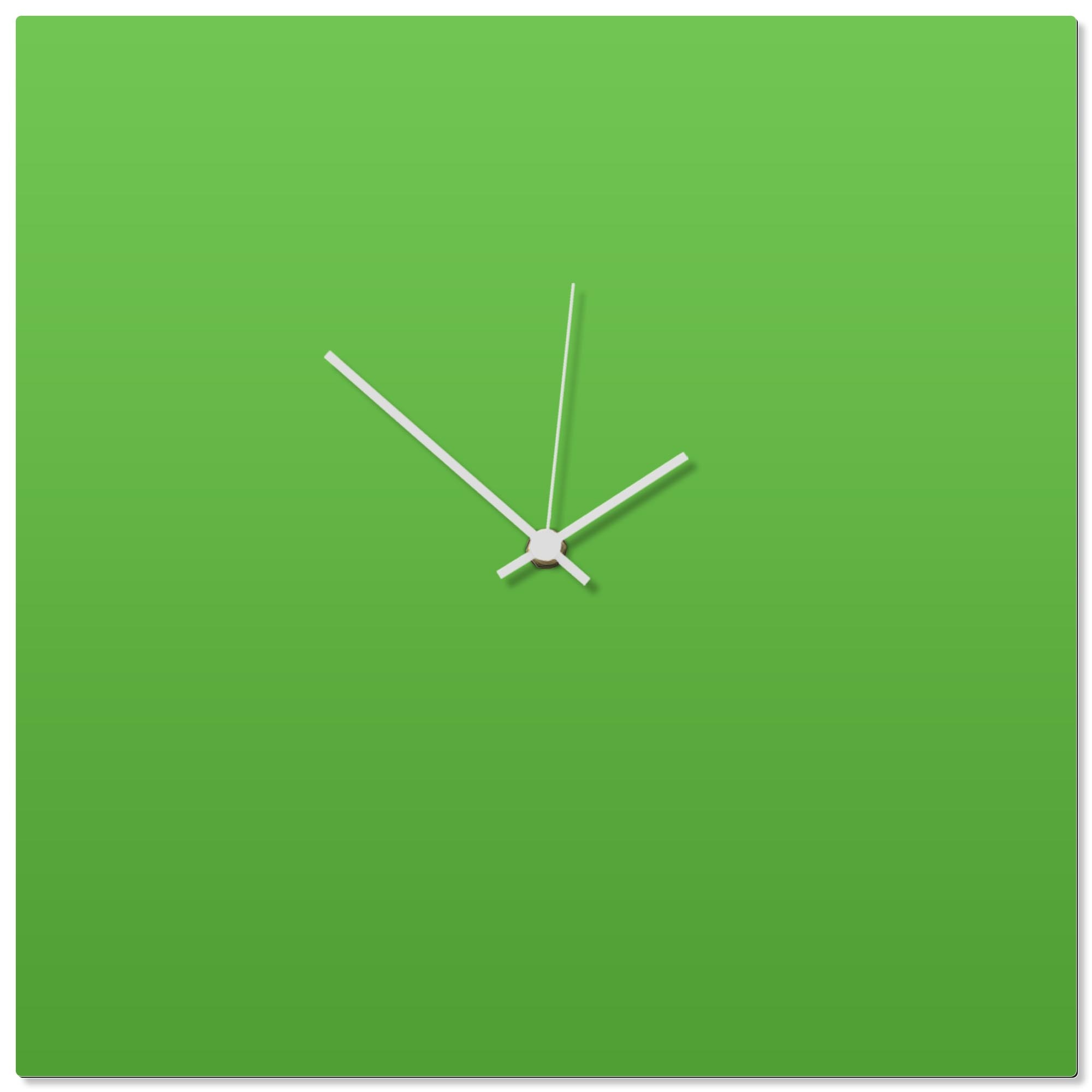 Greenout White Square Clock 16x16in. Aluminum Polymetal