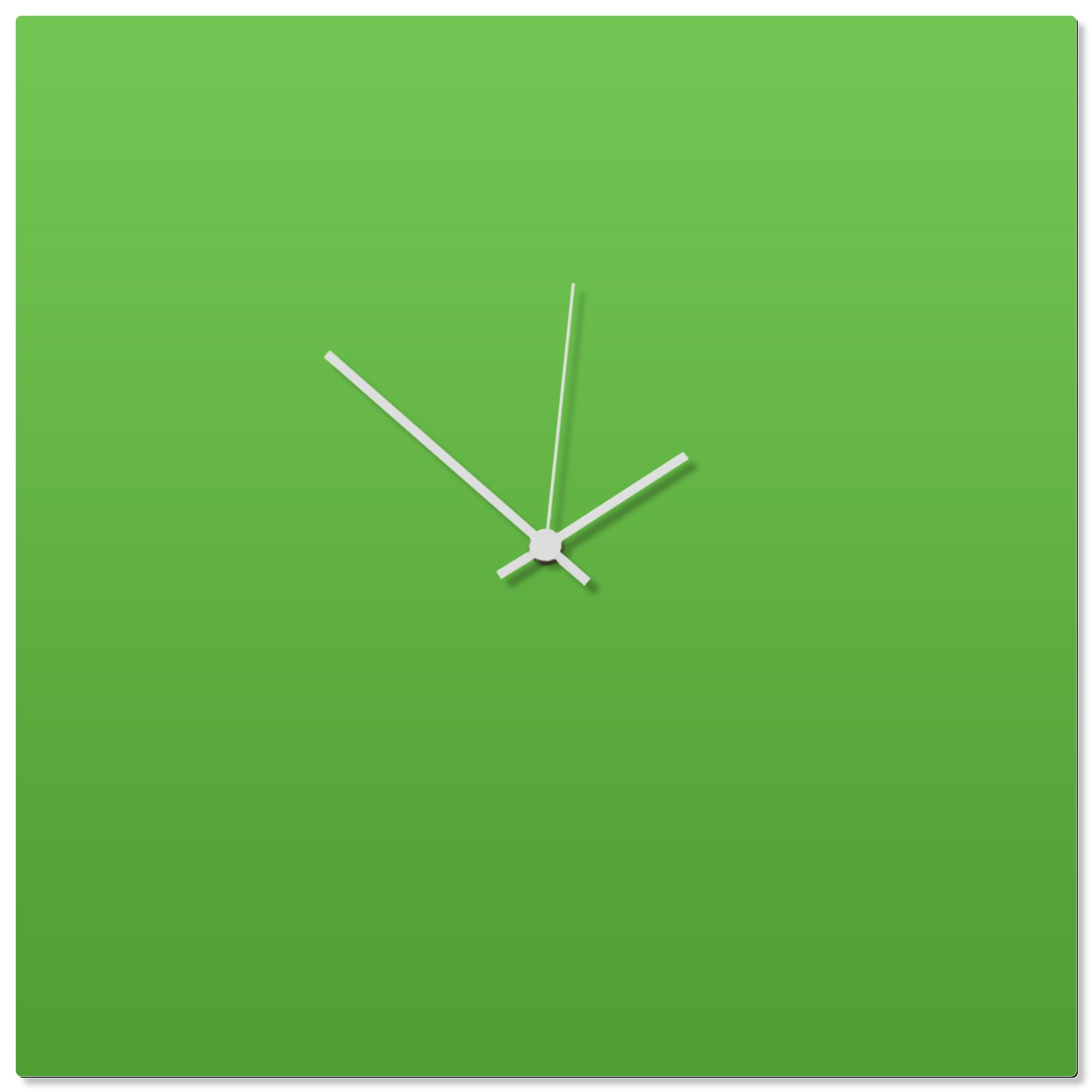 Greenout White Square Clock Large 23x23in. Aluminum Polymetal