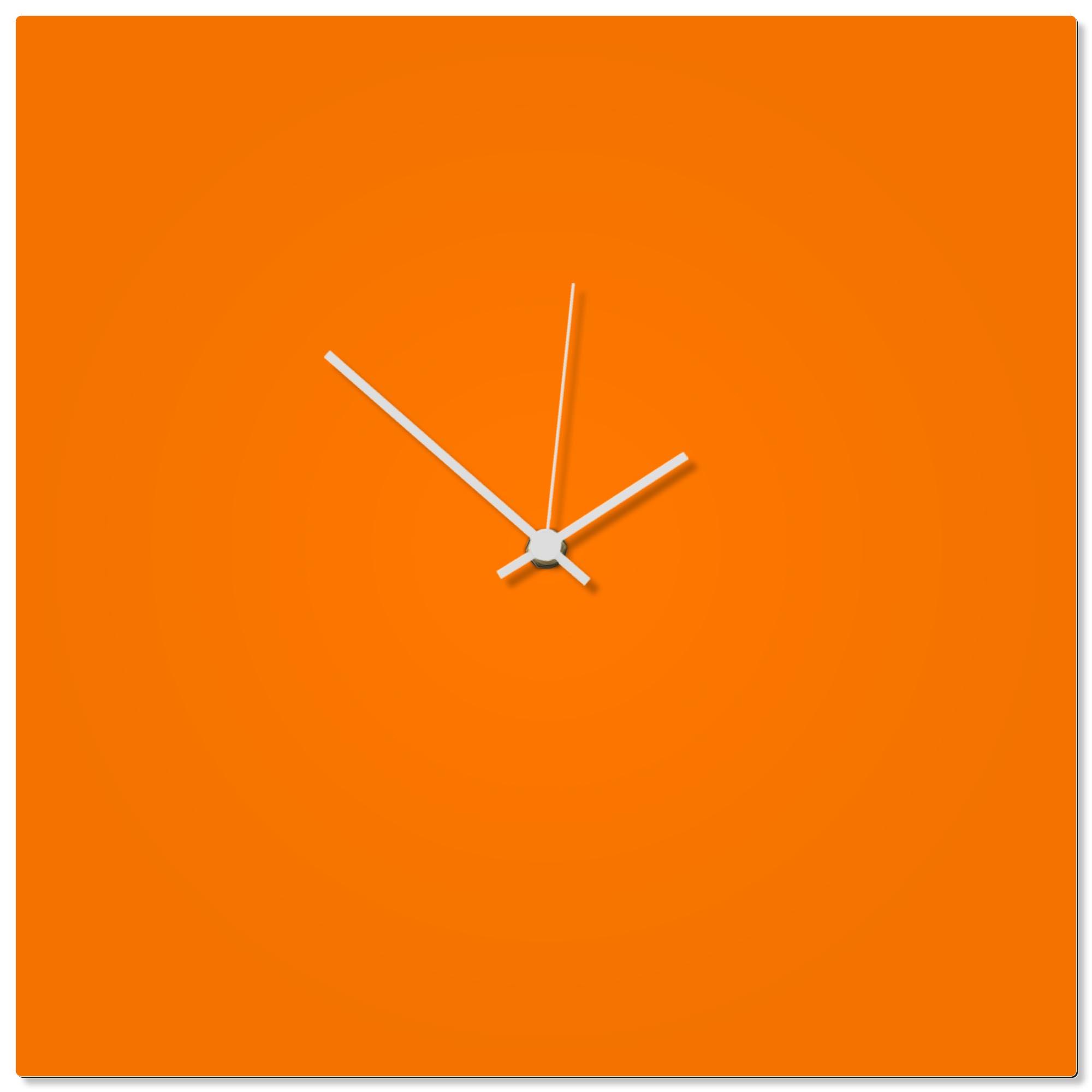 Orangeout White Square Clock 16x16in. Aluminum Polymetal