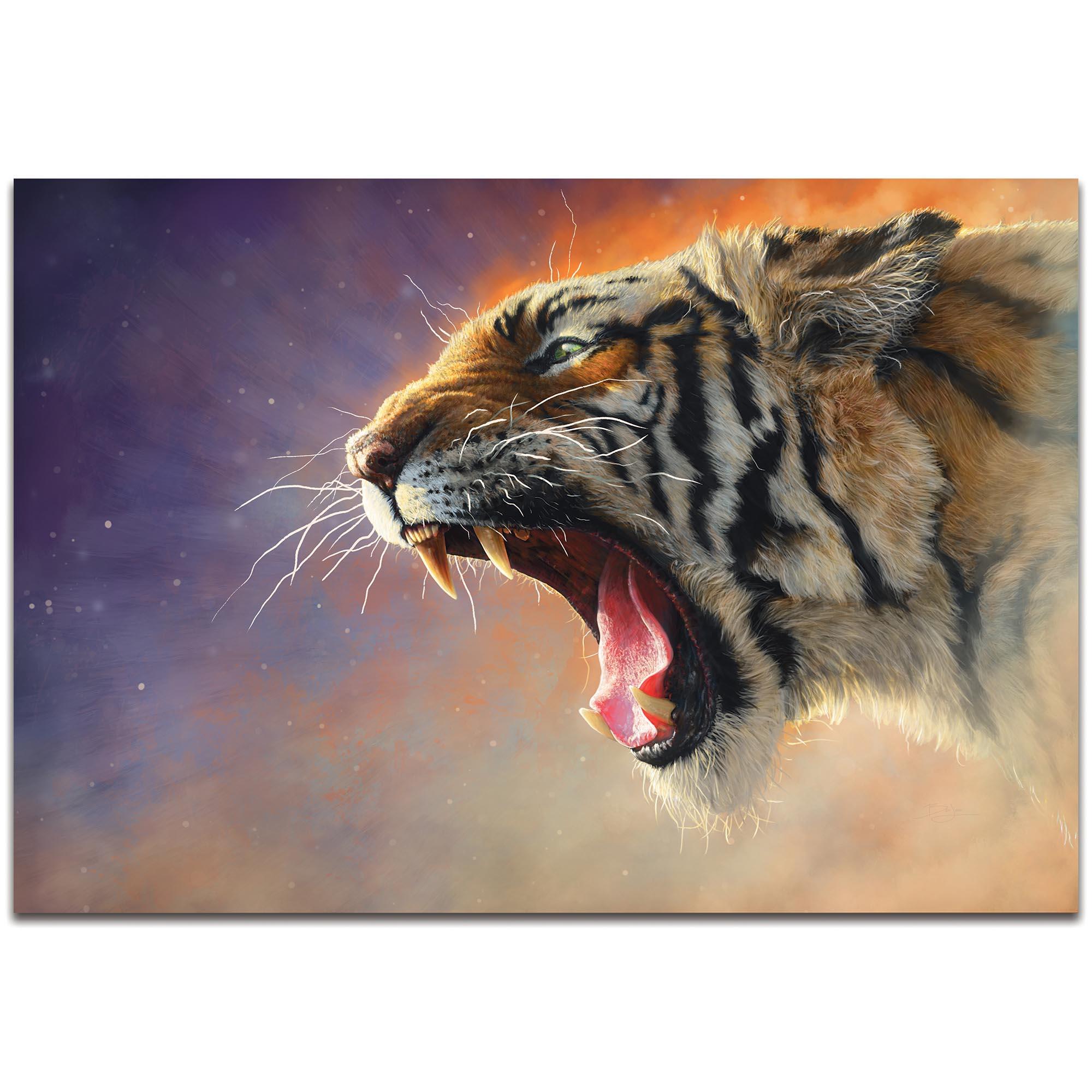 Expressionist Wall Art 'Fear Me' - Wildlife Decor on Metal or Plexiglass