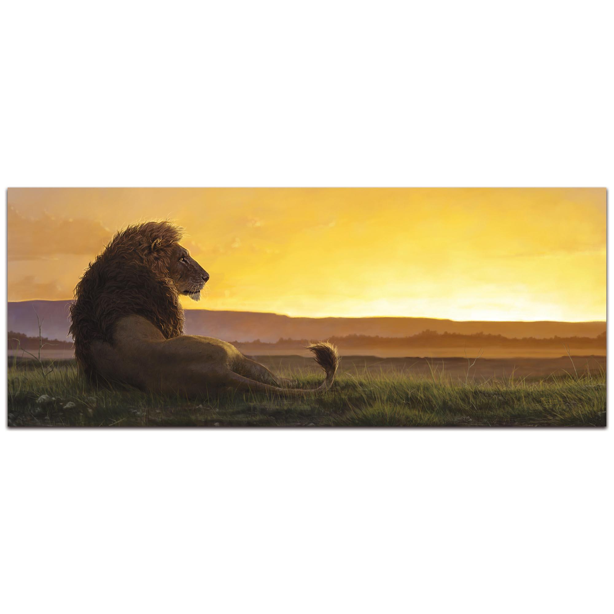 Expressionist Wall Art 'Lion in the Sun' - Wildlife Decor on Metal or Plexiglass