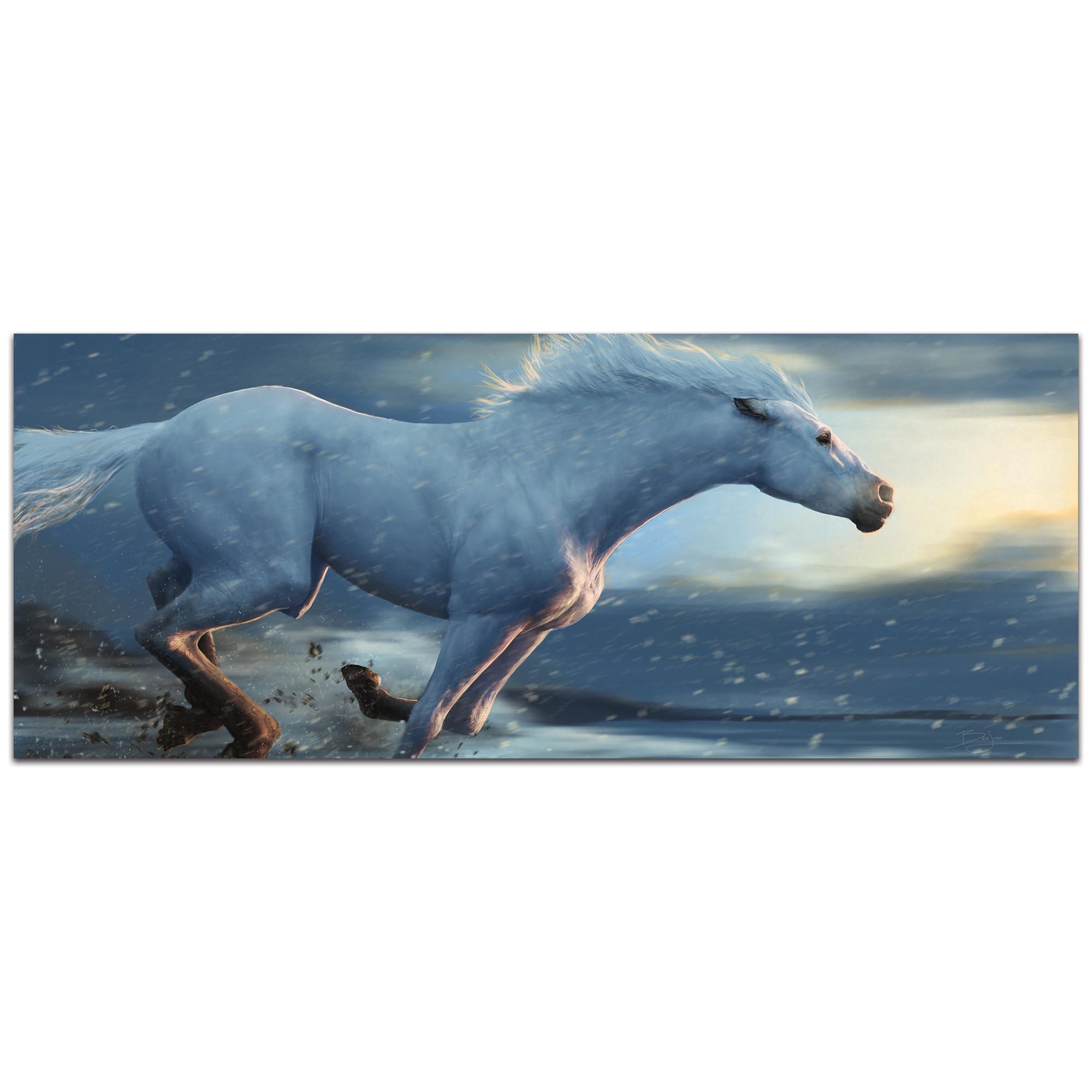 Expressionist Wall Art 'Running Horse' - Wildlife Decor on Metal or Plexiglass