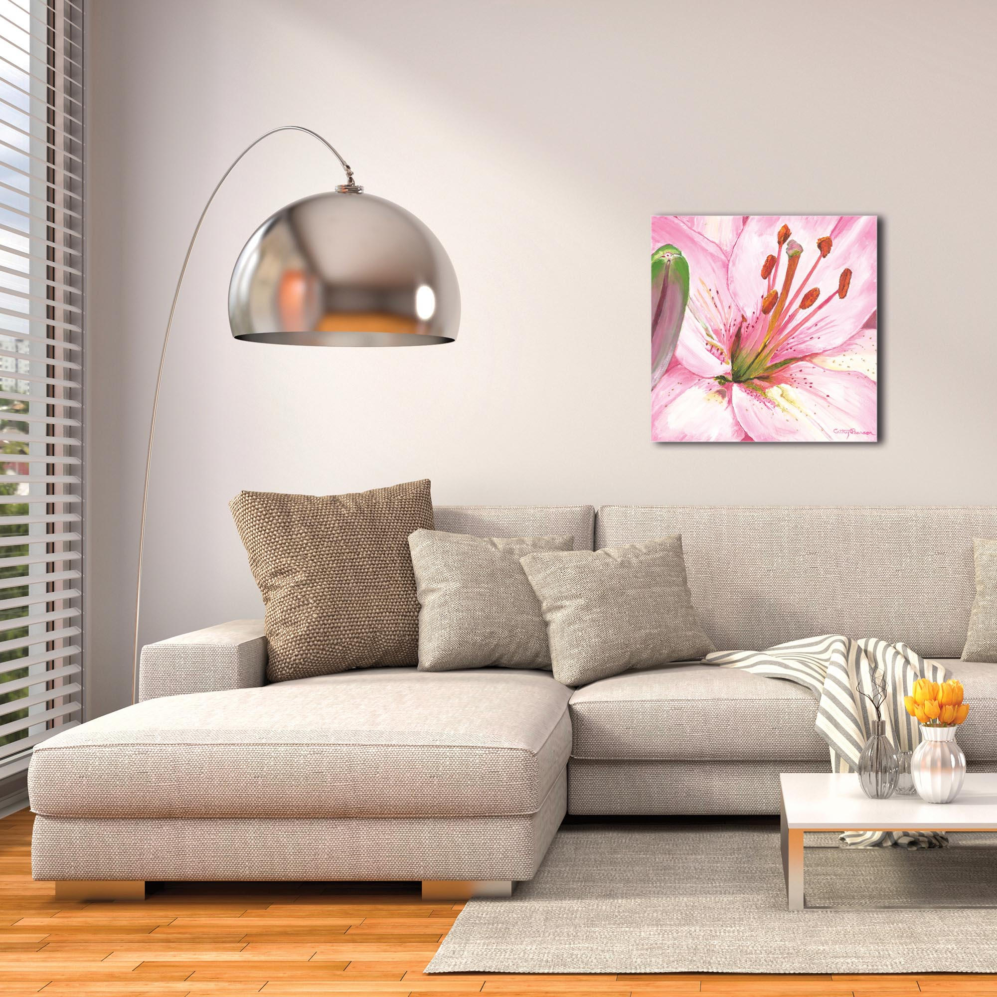 Traditional Wall Art 'Heart of a Pink Lily' - Floral Decor on Metal or Plexiglass - Image 3