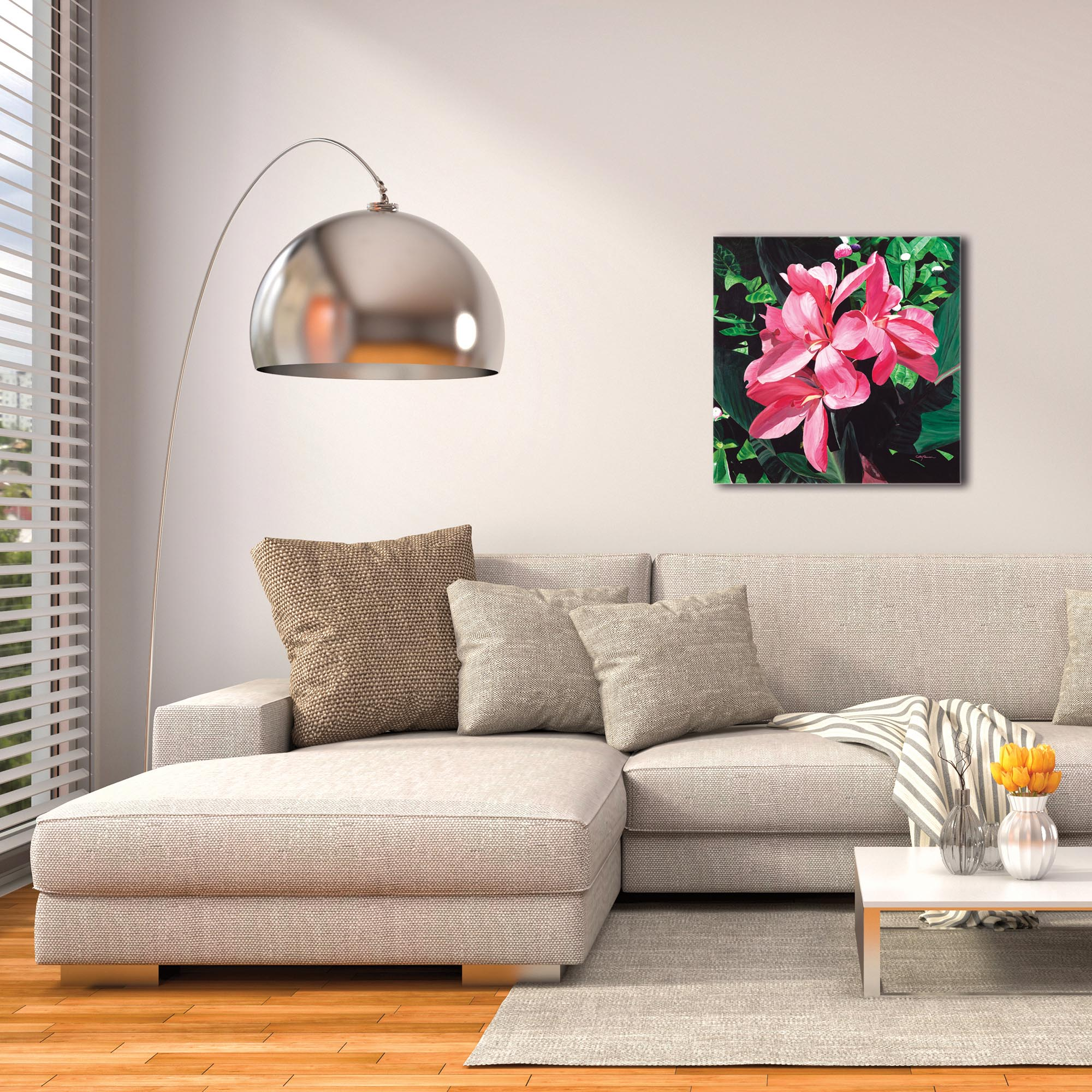 Traditional Wall Art 'Exotic Lilies' - Floral Decor on Metal or Plexiglass - Image 3