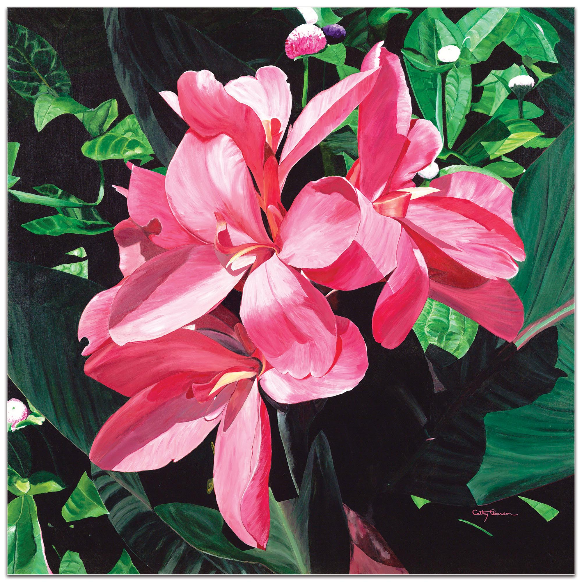 Traditional Wall Art 'Exotic Lilies' - Floral Decor on Metal or Plexiglass - Image 2